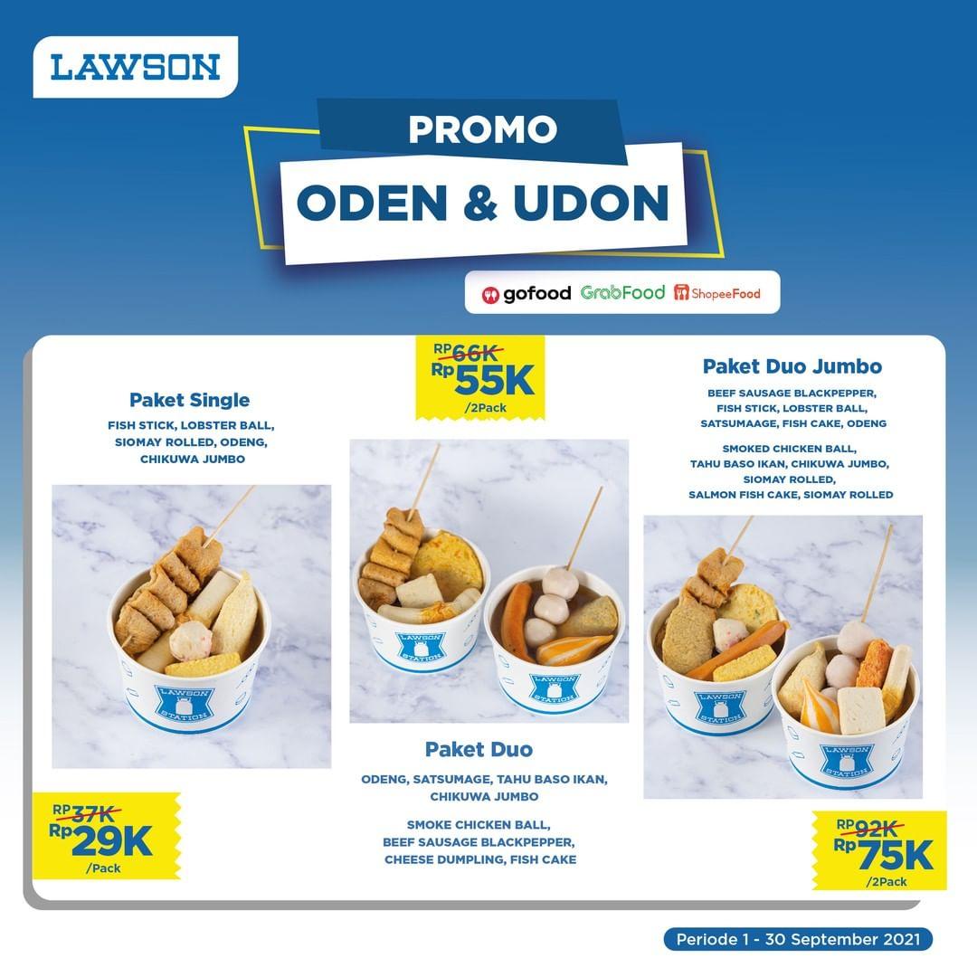 Promo LAWSON SATU DEKADE - Harga Spesial Paket Oden & Udon mulai dari Rp 29.000