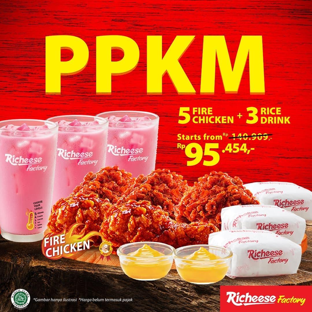 Promo RICHEESE FACTORY PPKM / PROMO PAKET KOMPLIT MANTAP SPESIAL WEEKEND MULAI RP. 95.454,- aja
