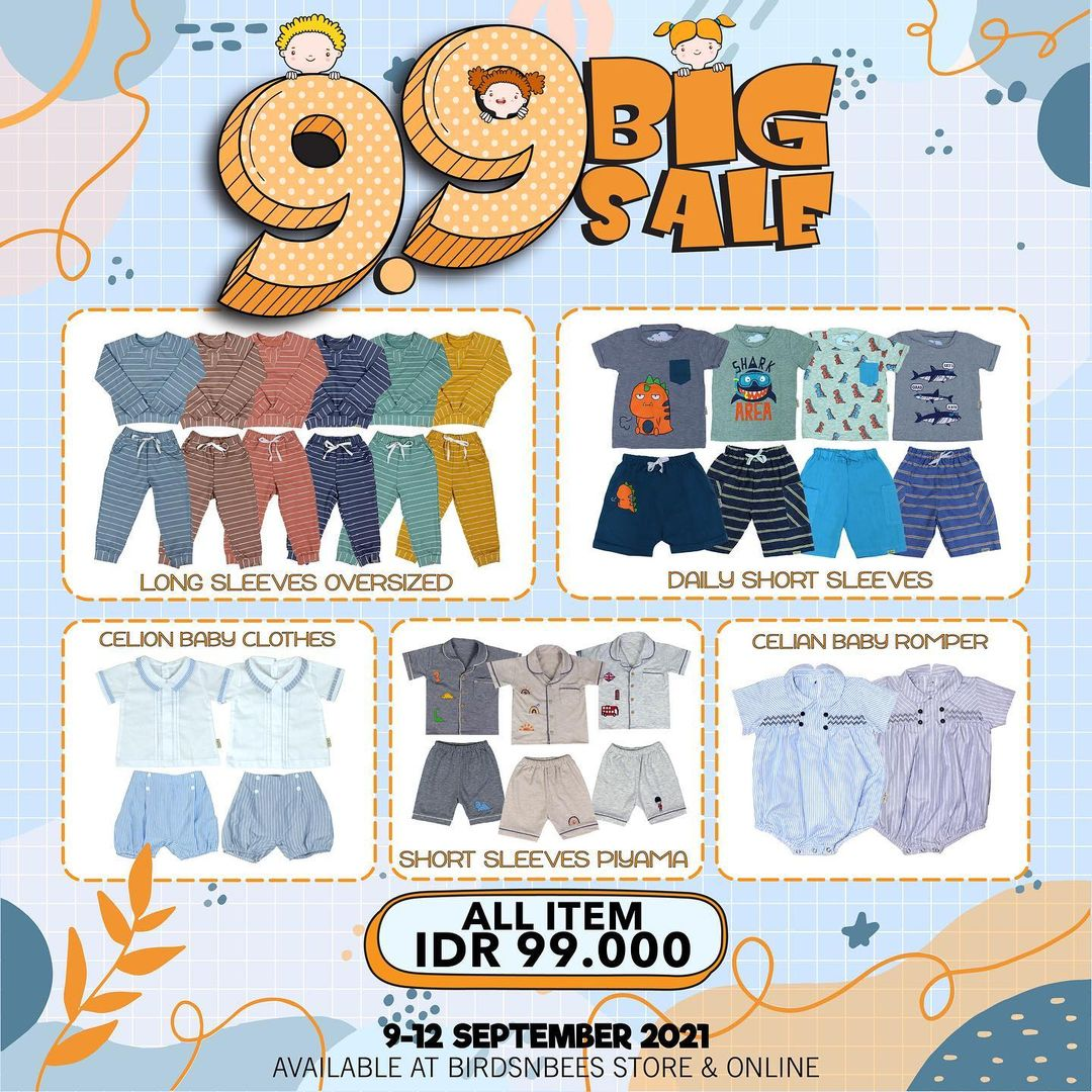 <div>Promo BIRDS&BEES 9.9 BIG SALE – SPECIAL PRICE start from Rp. 99.000</div>