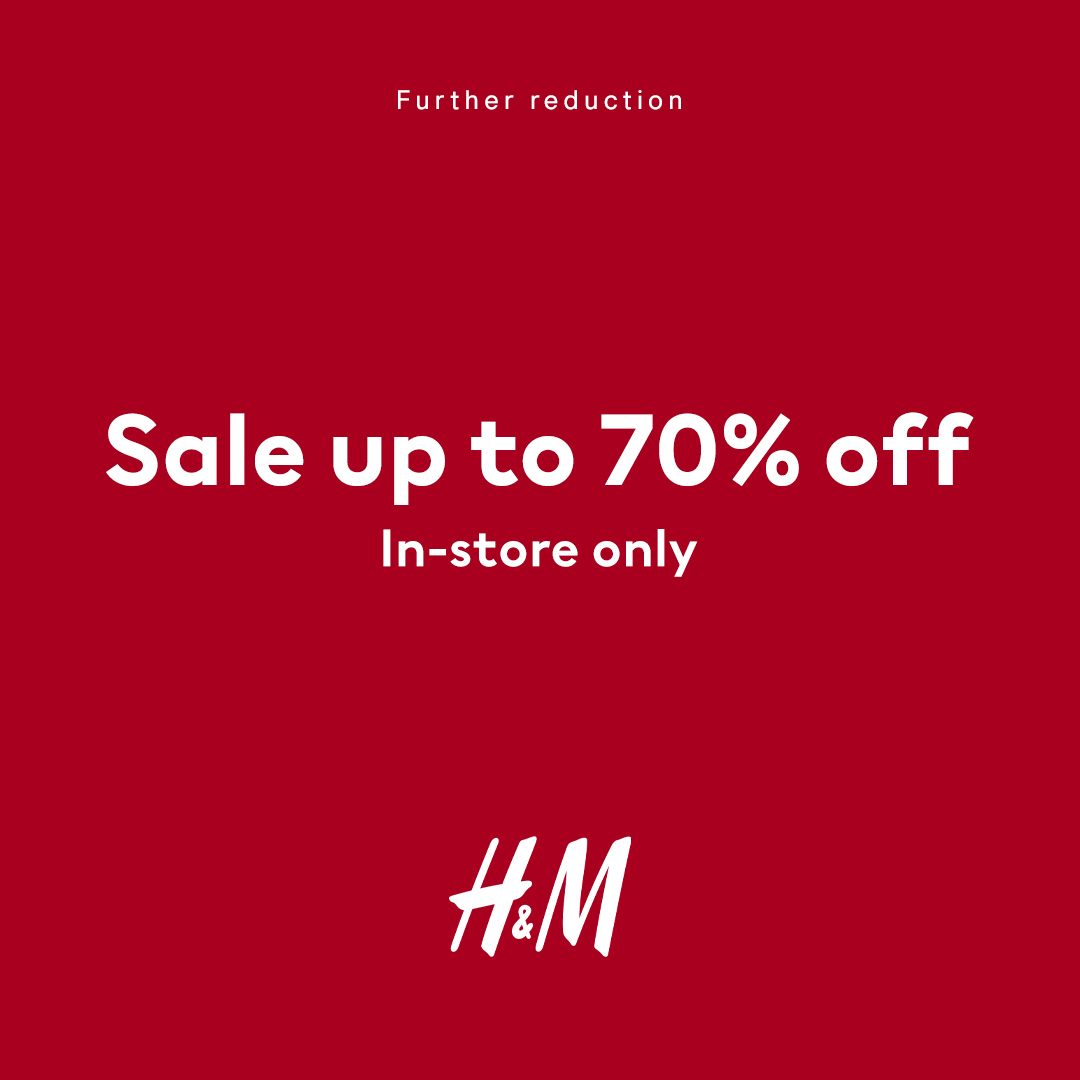 H&M SALE FURTHER REDUCTION - NOW Up To 70% Off!