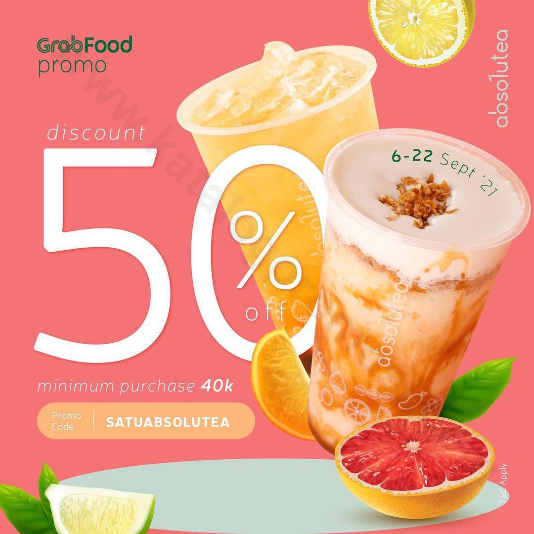 ABSOLUTEA Promo Discount 50% Off Khusus Pemesanan Via GRAFOOD
