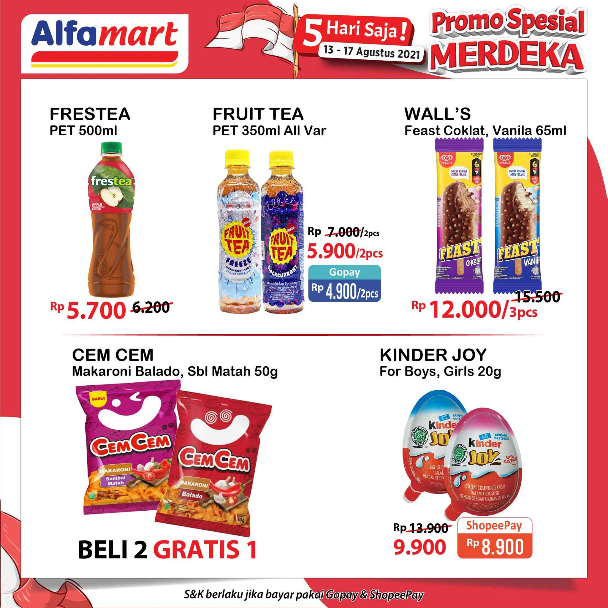 Promo ALFAMART JSM Weekend periode 13-17 Agustus 2021