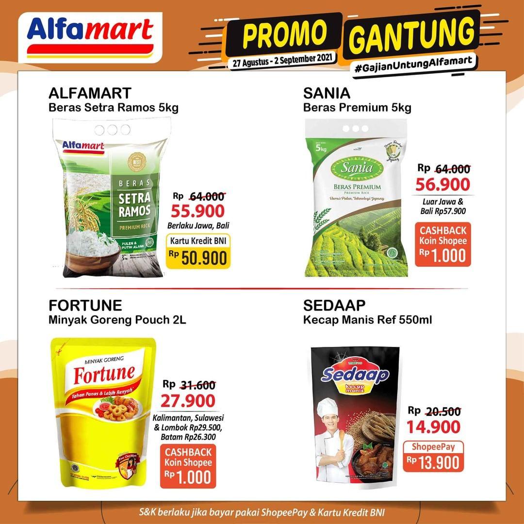 Promo GANTUNG ALFAMART / GAJIAN UNTUNG periode 27 Agustus – 02 September 2021