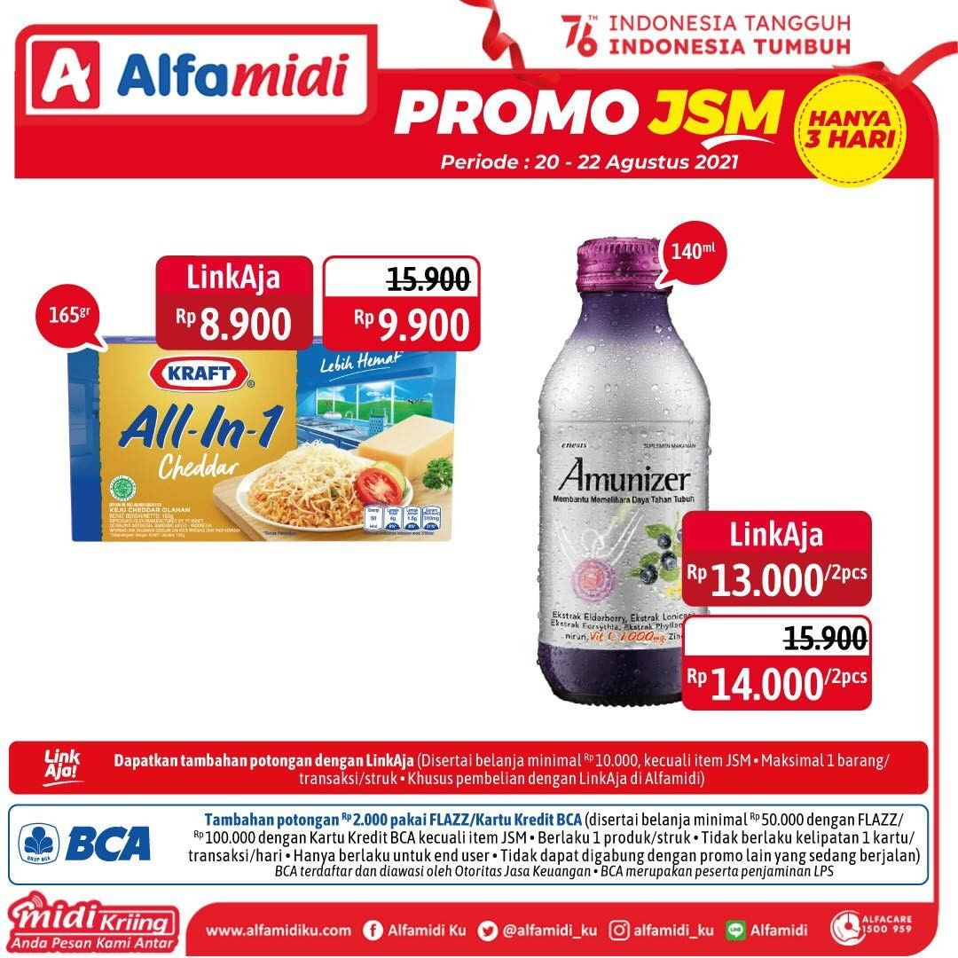 Promo ALFAMIDI JSM Weekend periode 20-22 Agustus 2021