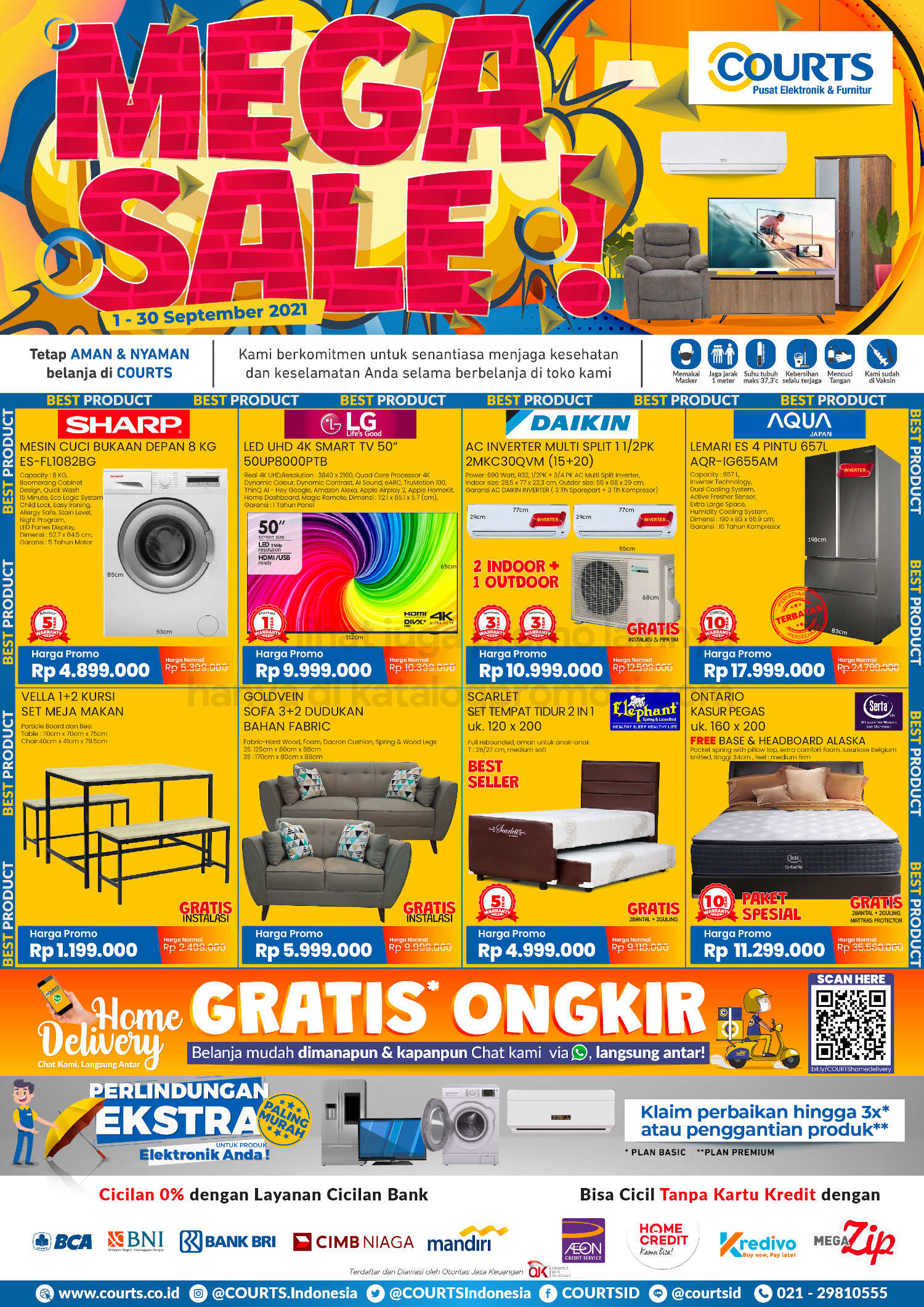 Katalog Promo COURTS MEGA SALE! periode 01-30 SEPTEMBER 2021