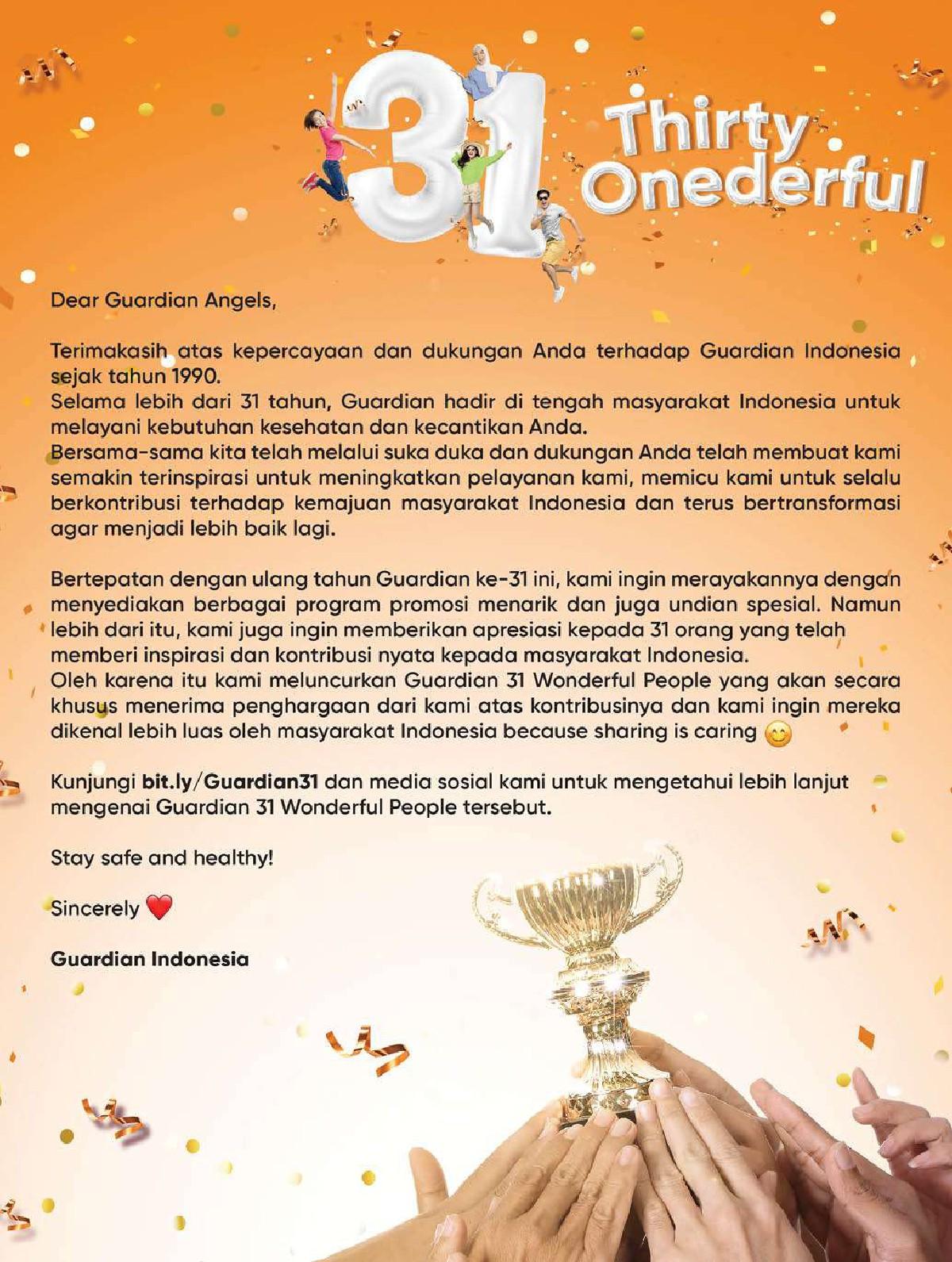 Katalog GUARDIAN Promo Bulanan Periode 23 September - 20 Oktober 2021