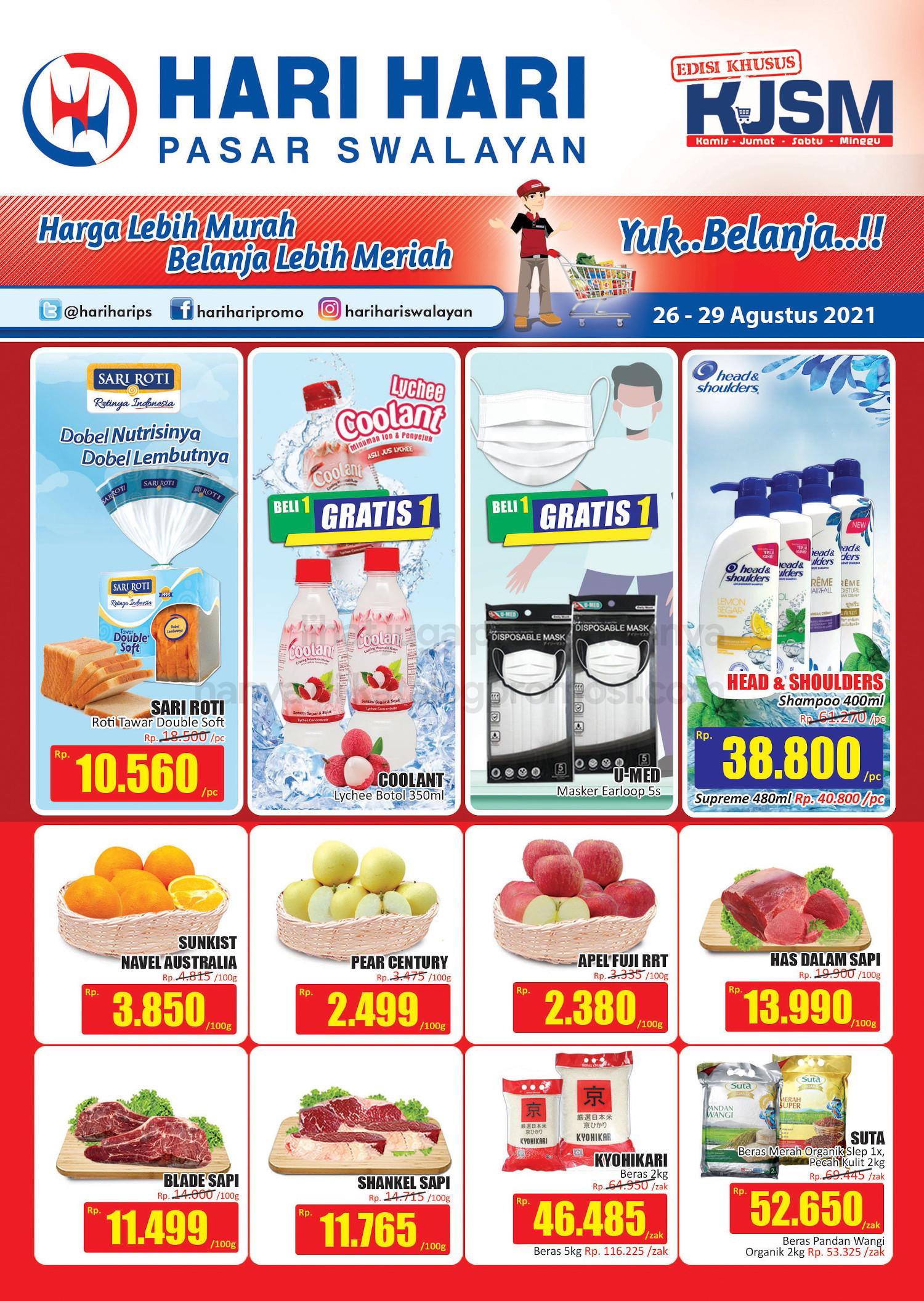 Promo Hari Hari Pasar Swalayan Weekend JSM Periode 26-29 Agustus 2021