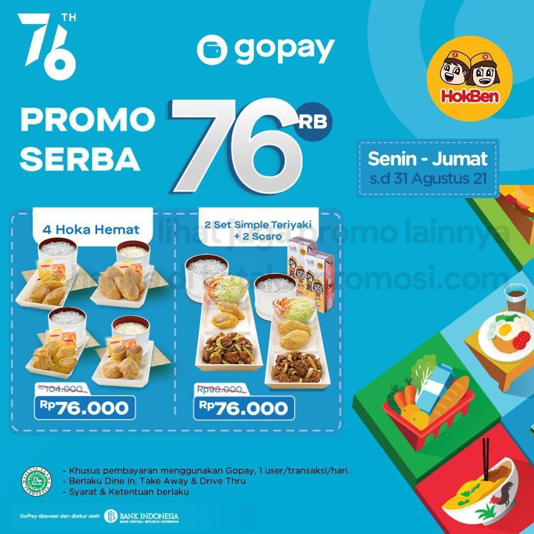 Promo HOKBEN GOPAY SERBA 76RIBU