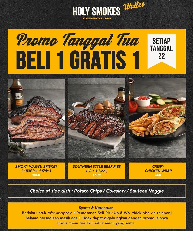 HOLY SMOKES Promo TANGGAL TUA - BELI 1 GRATIS 1*