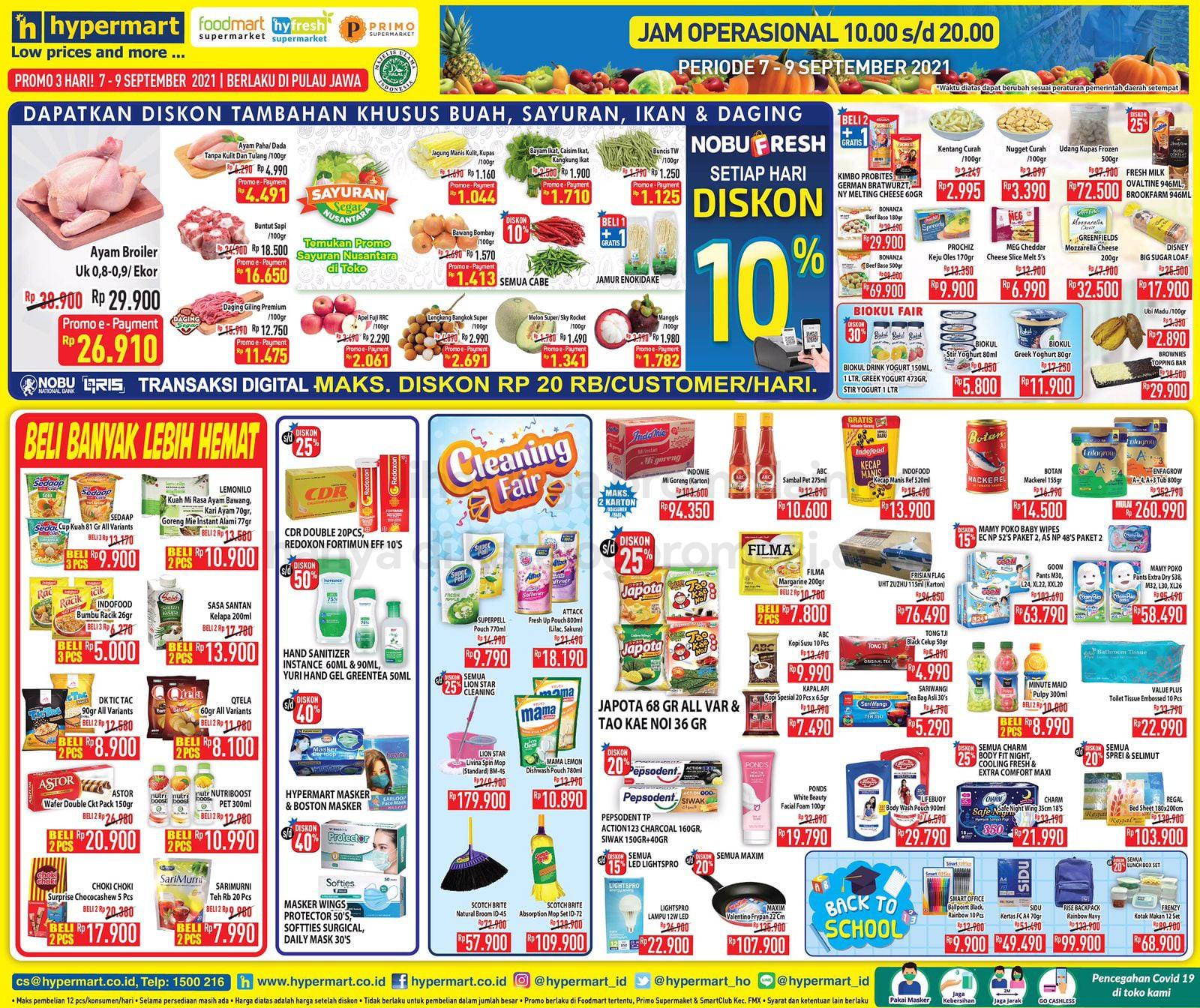 Katalog Hypermart Promo Weekday periode 07-09 September 2021