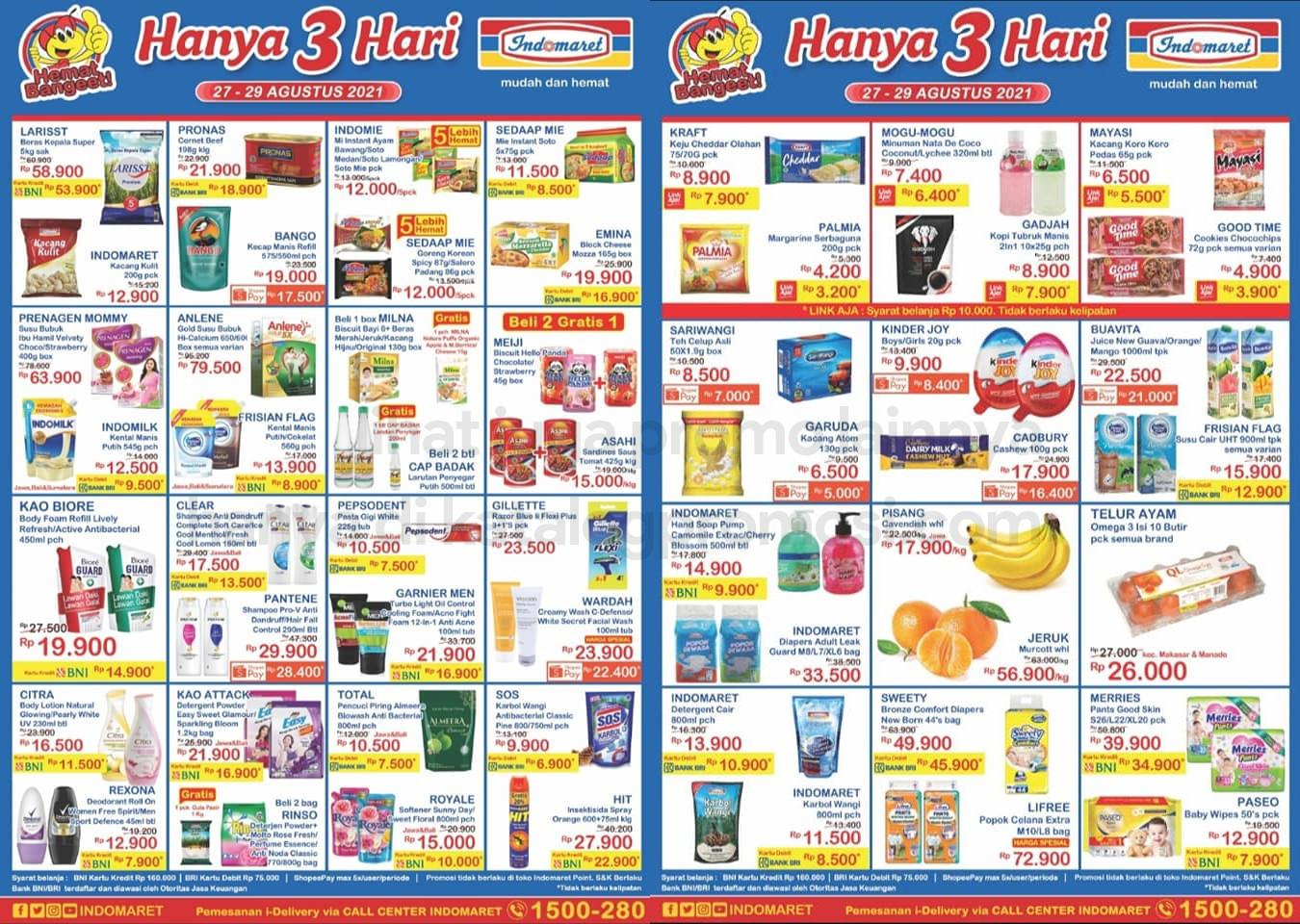Promo INDOMARET JSM Katalog Weekend periode 27-29 Agustus 2021