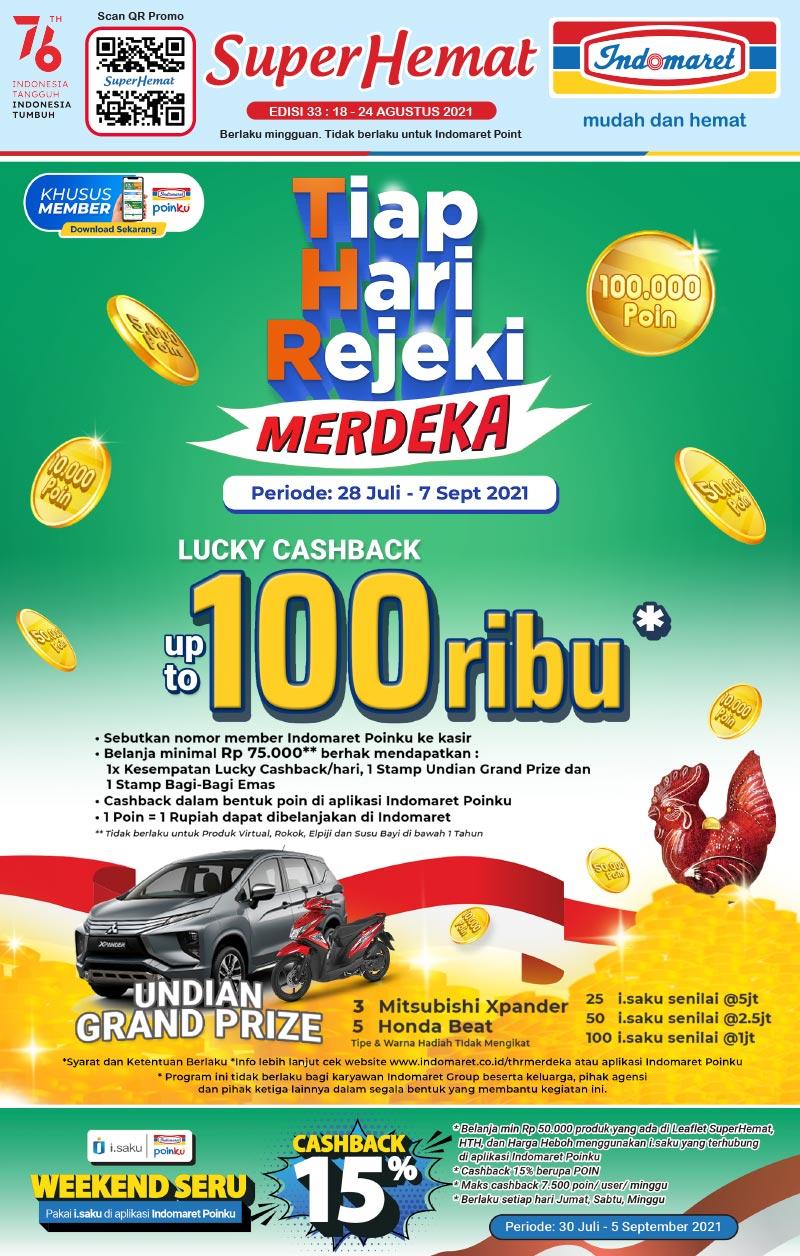 Promo INDOMARET Katalog SUPER HEMAT | 18-24 Agustus 2021