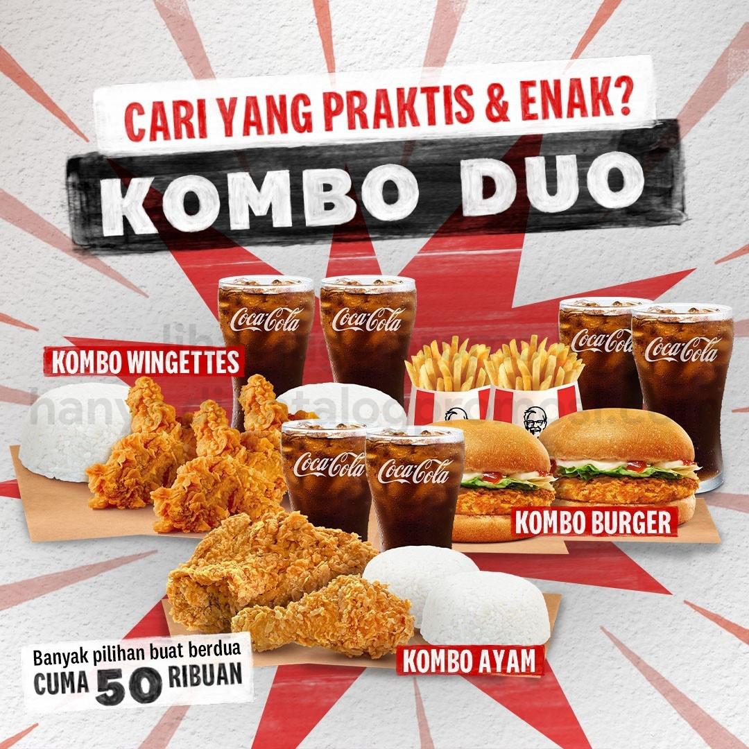 PROMO KFC COMBO DUO - HARGA SPESIAL mulai Rp. 50RIBUAN AJA