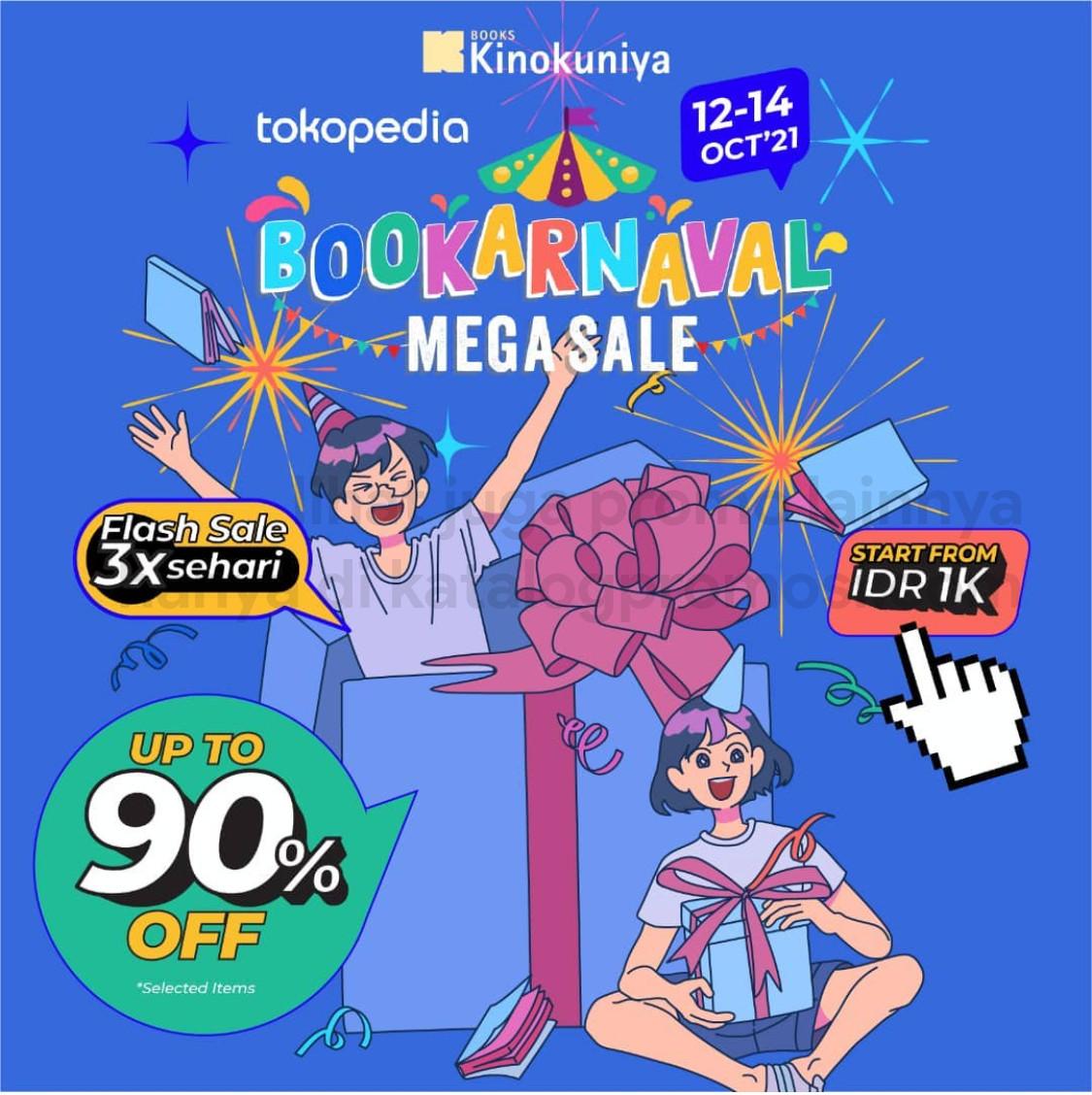 KINOKUNIYA Promo Bookarnaval Megasalel!! Discount up to 90% off