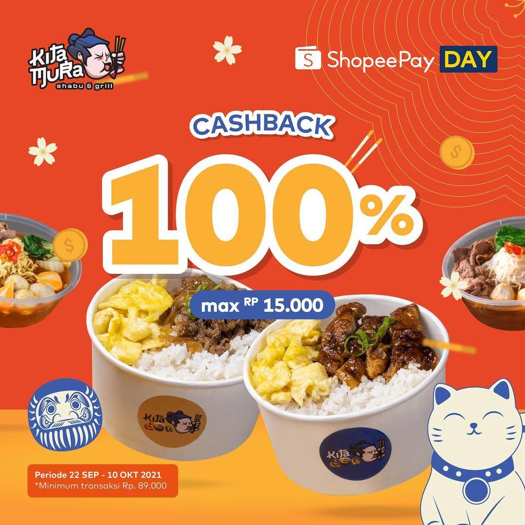 Promo KITAMURA ShopeePay Voucher Deals Cashback 100% tersedia mulai tanggal 22 September - 10 Oktober 2021