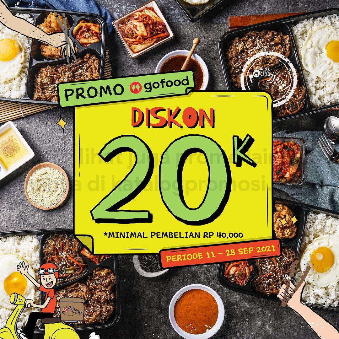 POCHAJJANG Promo POTONGAN Rp 20.000* khusus pemesanan via GOFOOD