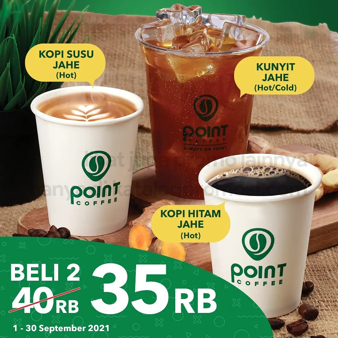 Promo POINT COFFEE BELI 2 CUMA Rp. 35.000 untuk pembelian Jahe series
