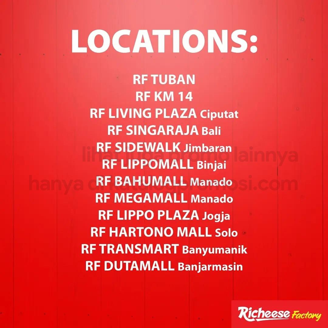 RICHEESE FACTORY Promo KULINERAN - DISKON Rp 25.000 Untuk Pemesanan Melalui GOFOOD