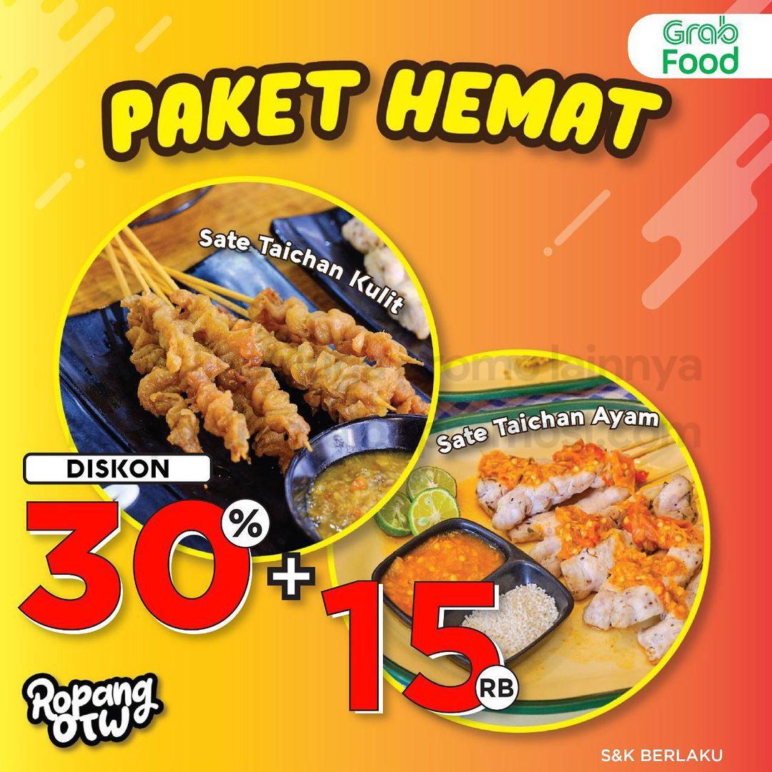Promo ROPANG OTW PAKET HEMAT DISKON 30% khusus pemesanan via GRABFOOD