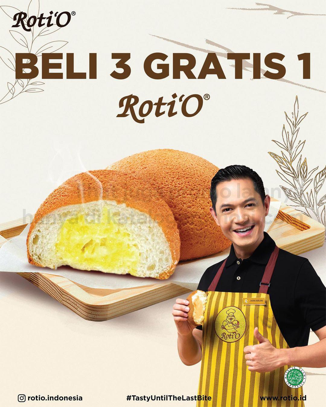 Promo ROTI'O - BELI 3 GRATIS 1 untuk ROTI dan HARGA SPESIAL untuk KOPI ROTI'O