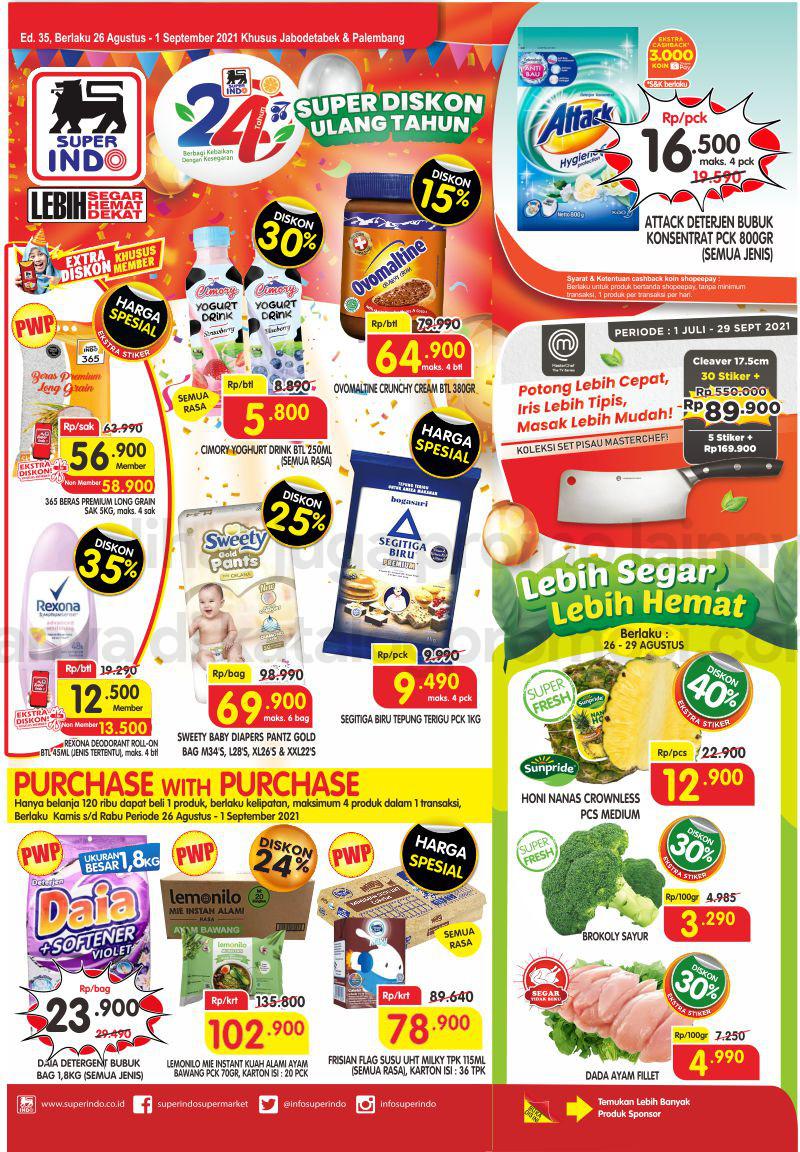 Promo Superindo Katalog Belanja Mingguan periode 26 Agustus – 01 September 2021