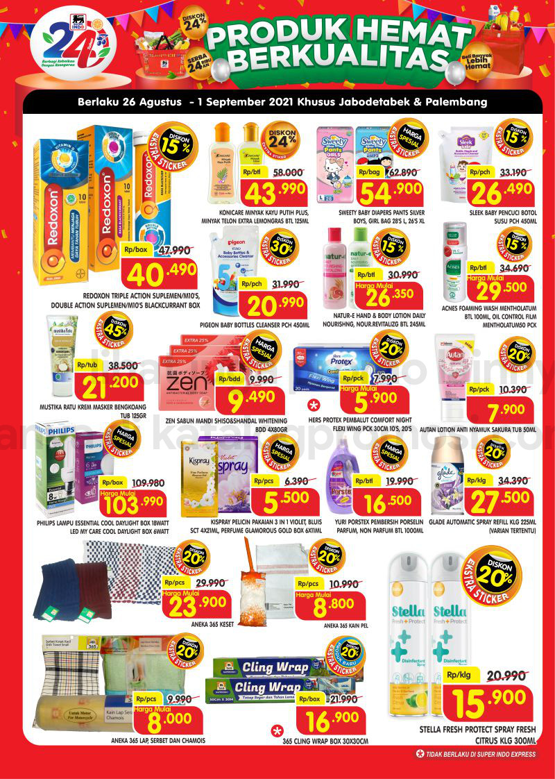 Promo Superindo Katalog Belanja Mingguan periode 26 Agustus - 01 September 2021