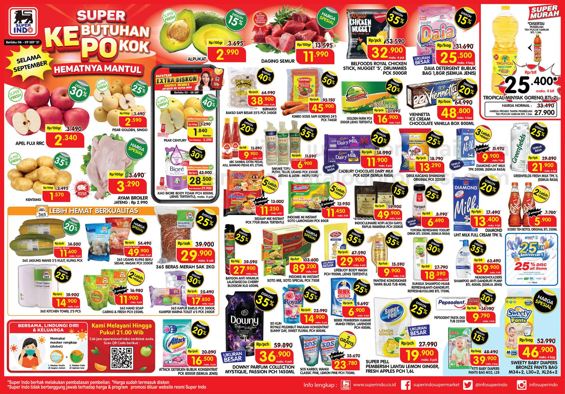 Promo Superindo Katalog Awal Pekan (Weekday) periode 06-09 SEPTEMBER 2021