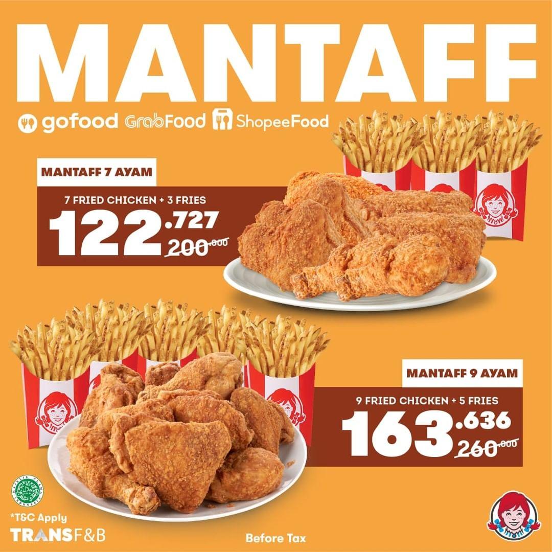 Promo WENDY'S PAKET MANTAFF - Harga Spesial mulai dari Rp 80.000