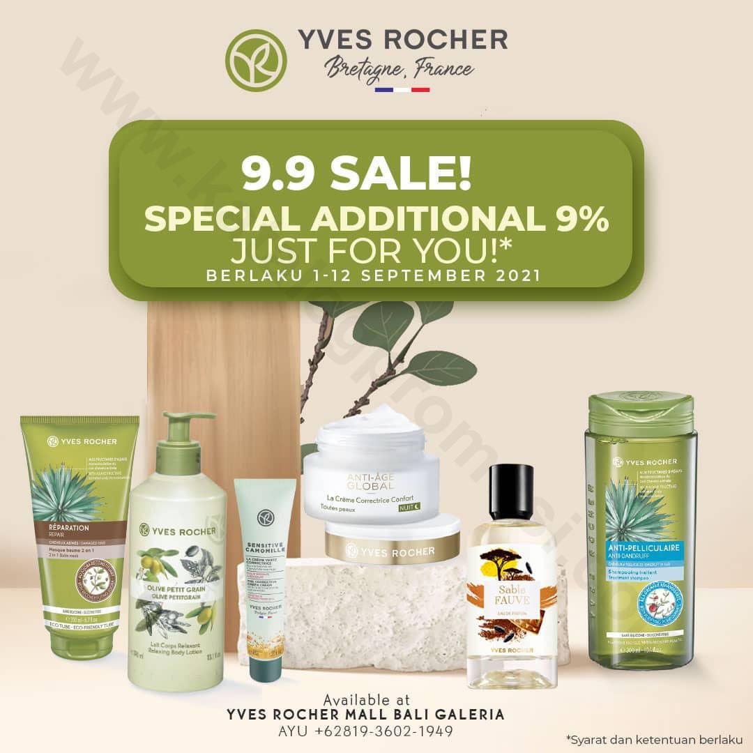 Yves Rocher Promo 9.9 SALE Harga Special Mulai dari Rp 99,000*