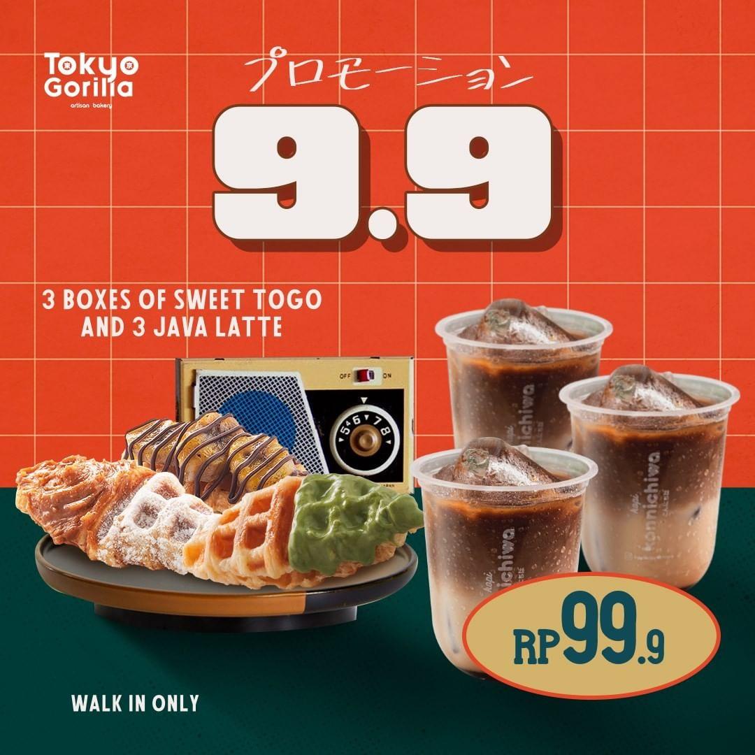 Promo TOKYO GORILLA BELI 3 Box Sweet Package dan 3 Java Latte/ 1 Box Origin hanya Rp99.999