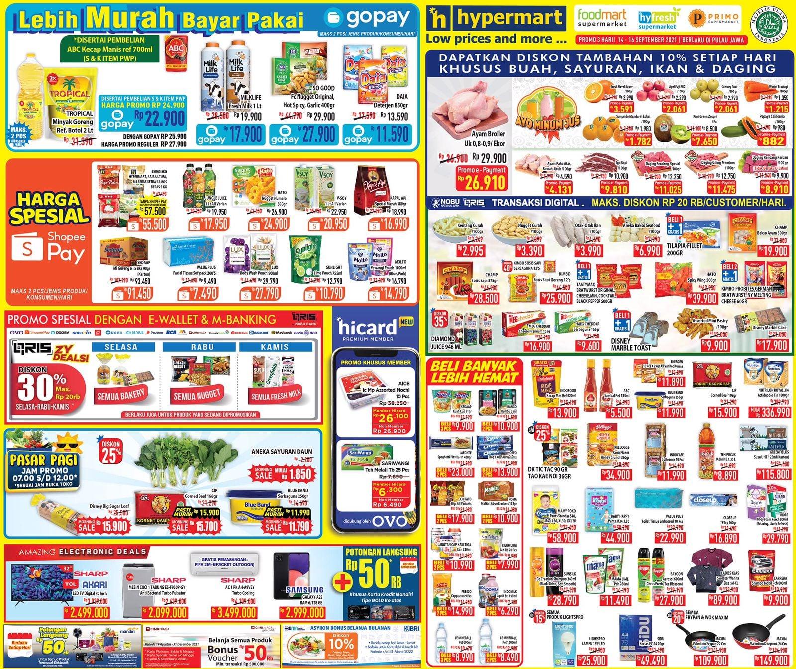 Katalog Hypermart Promo Weekday periode 14-16 September 2021