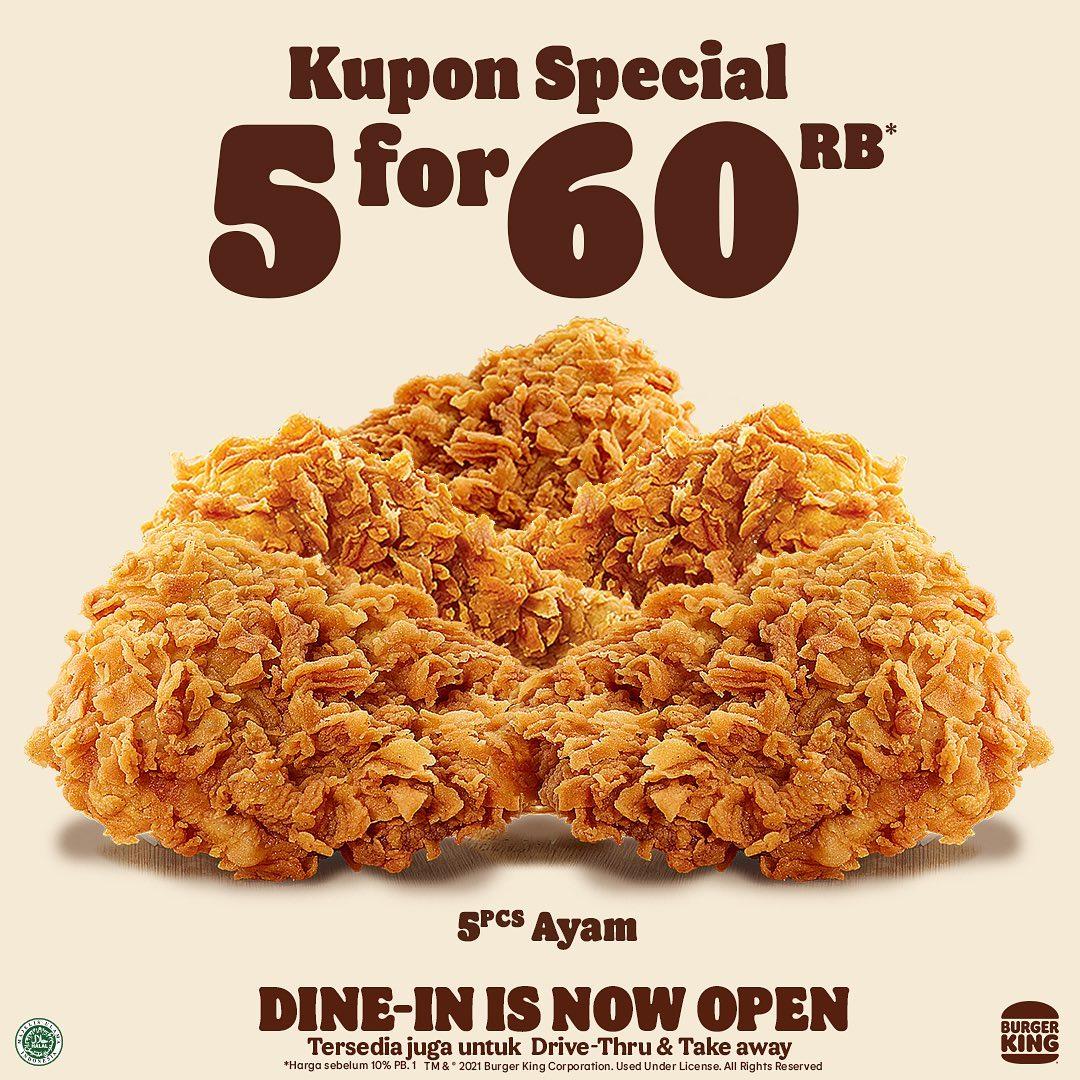 KUPON BURGER KING khusus untuk bulan SEPTEMBER 2021