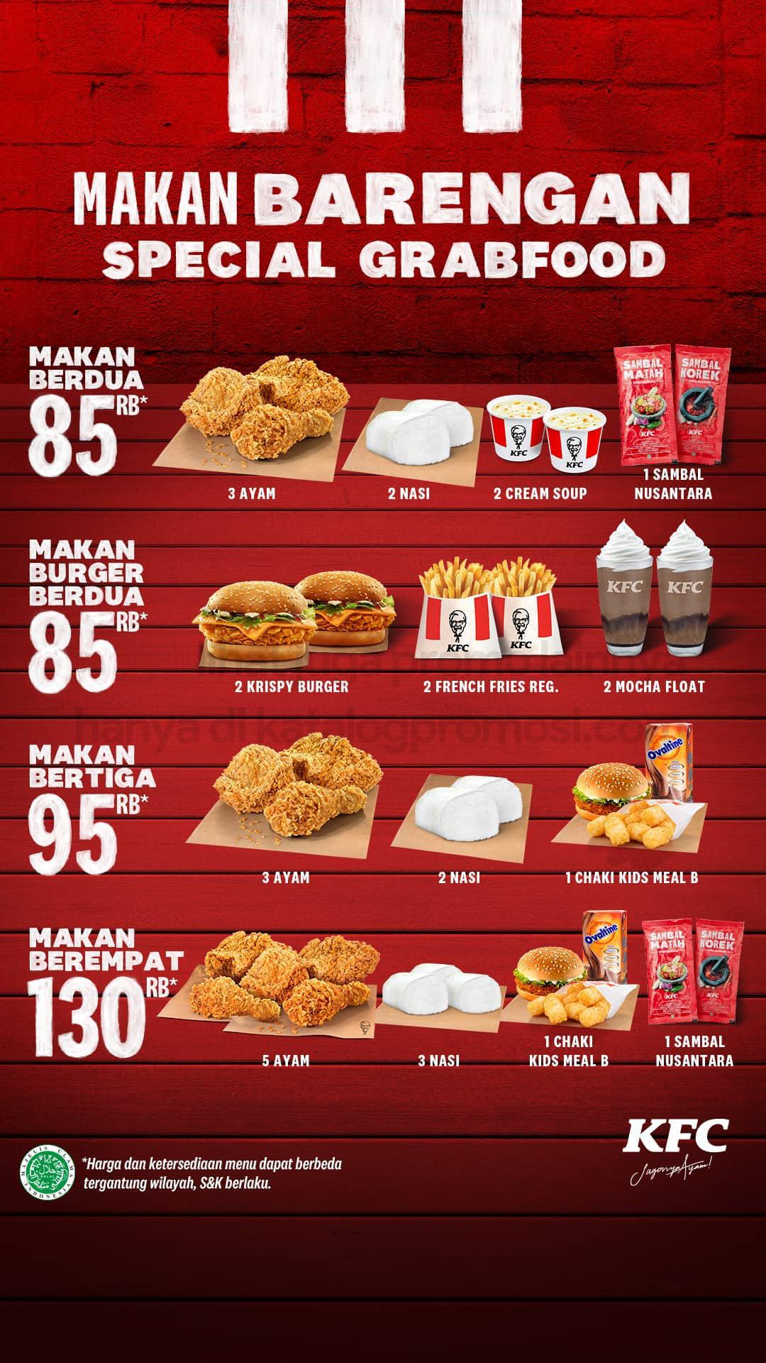 Promo KFC PAKET MAKAN BARENGAN KHUSUS PEMESANAN via GOFOOD/GRABFOOD