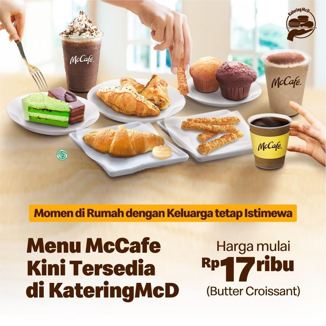 Menu McCafe kini tersedia di Katering McD - Harga mulai Rp. 17ribuan aja