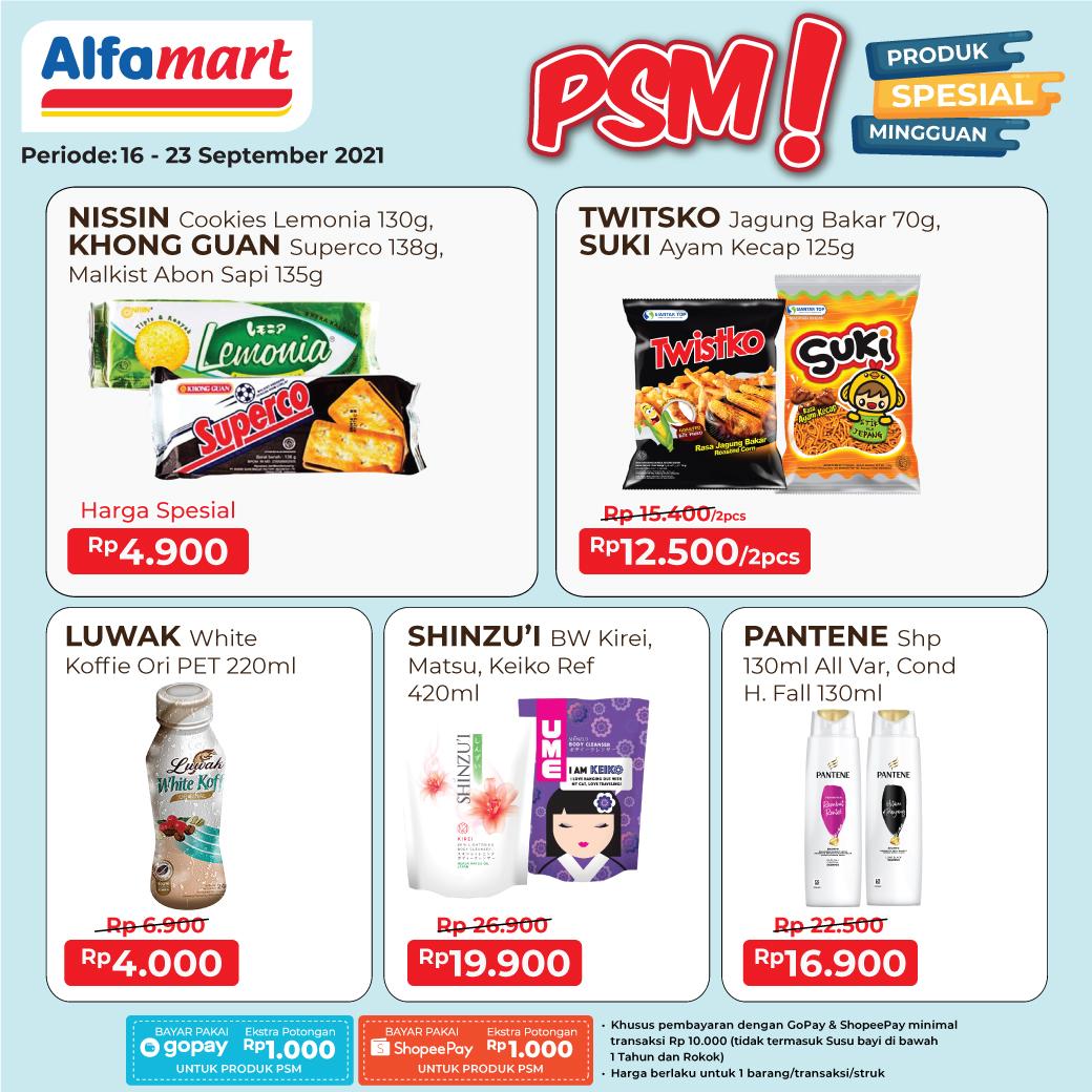 ALFAMART Promo PSM - Produk Spesial Mingguan periode 16-23 September 2021