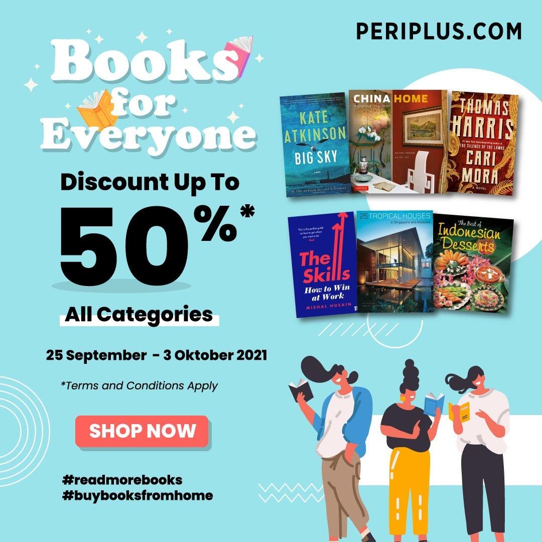 Promo Periplus Books for Everyone! Dapatkan Diskon hingga 50% untuk semua kategori