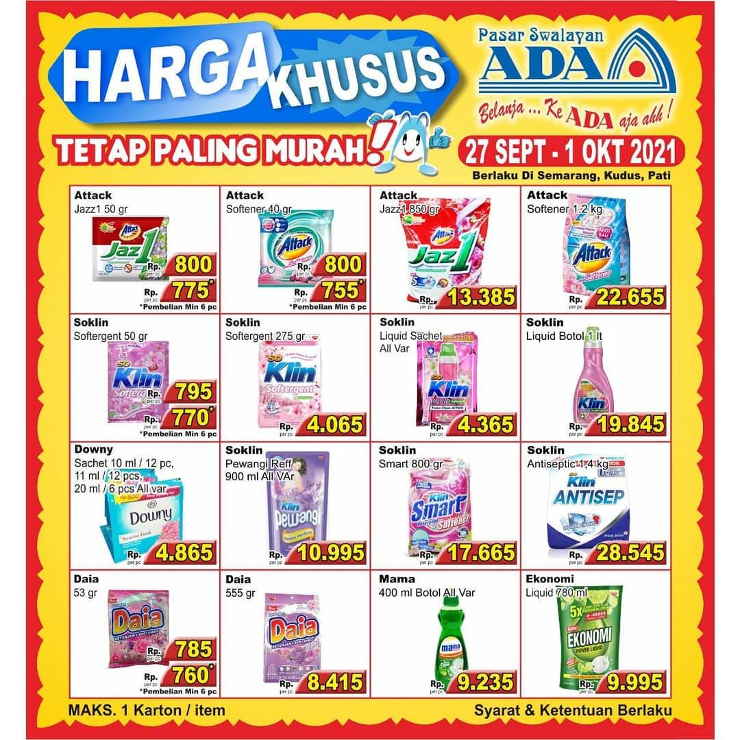 Promo PASAR SWALAYAN ADA - HARGA KHUSUS SENIN - JUMAT periode 27 September - 01 Oktober 2021