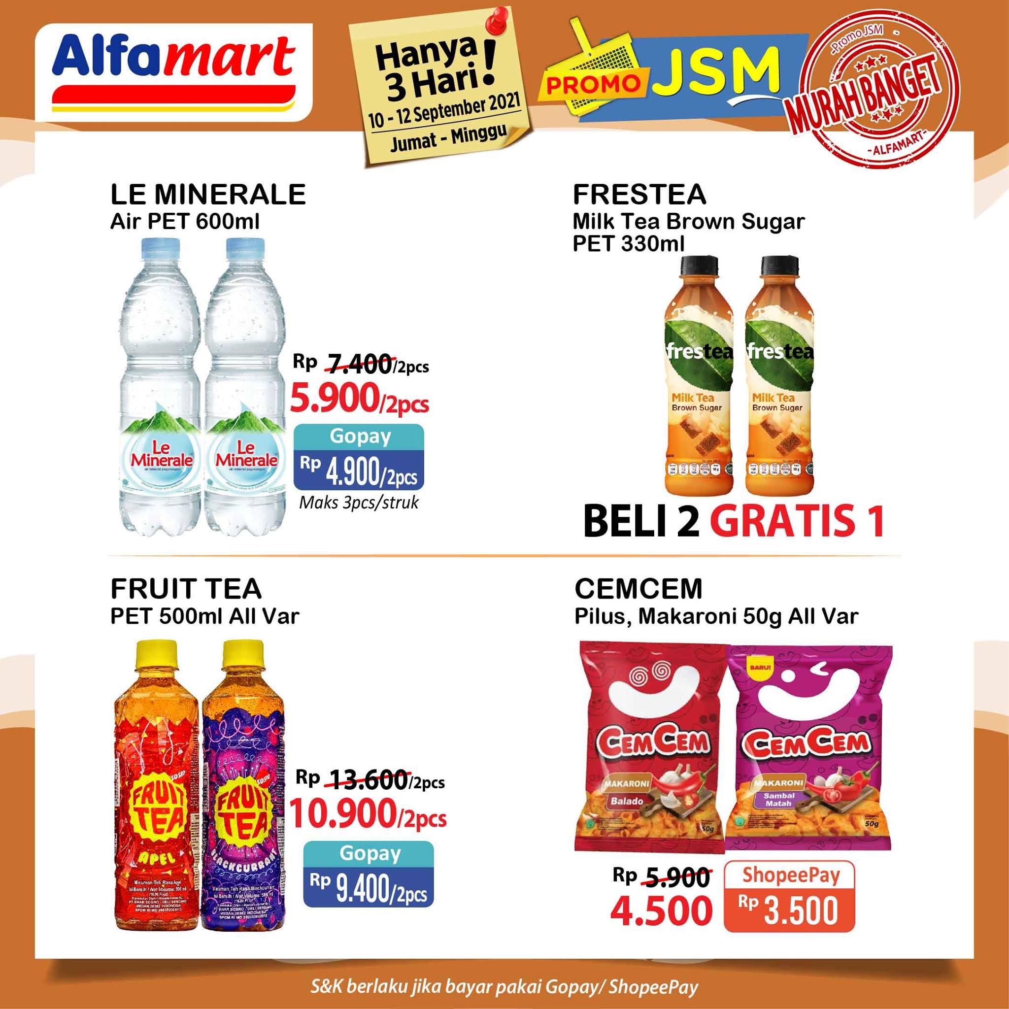 Promo ALFAMART JSM Weekend periode 10-12 September 2021