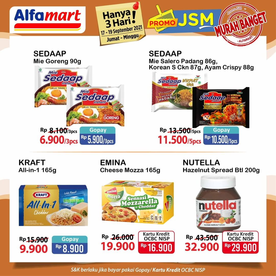 Promo ALFAMART JSM Weekend periode 17-19 September 2021
