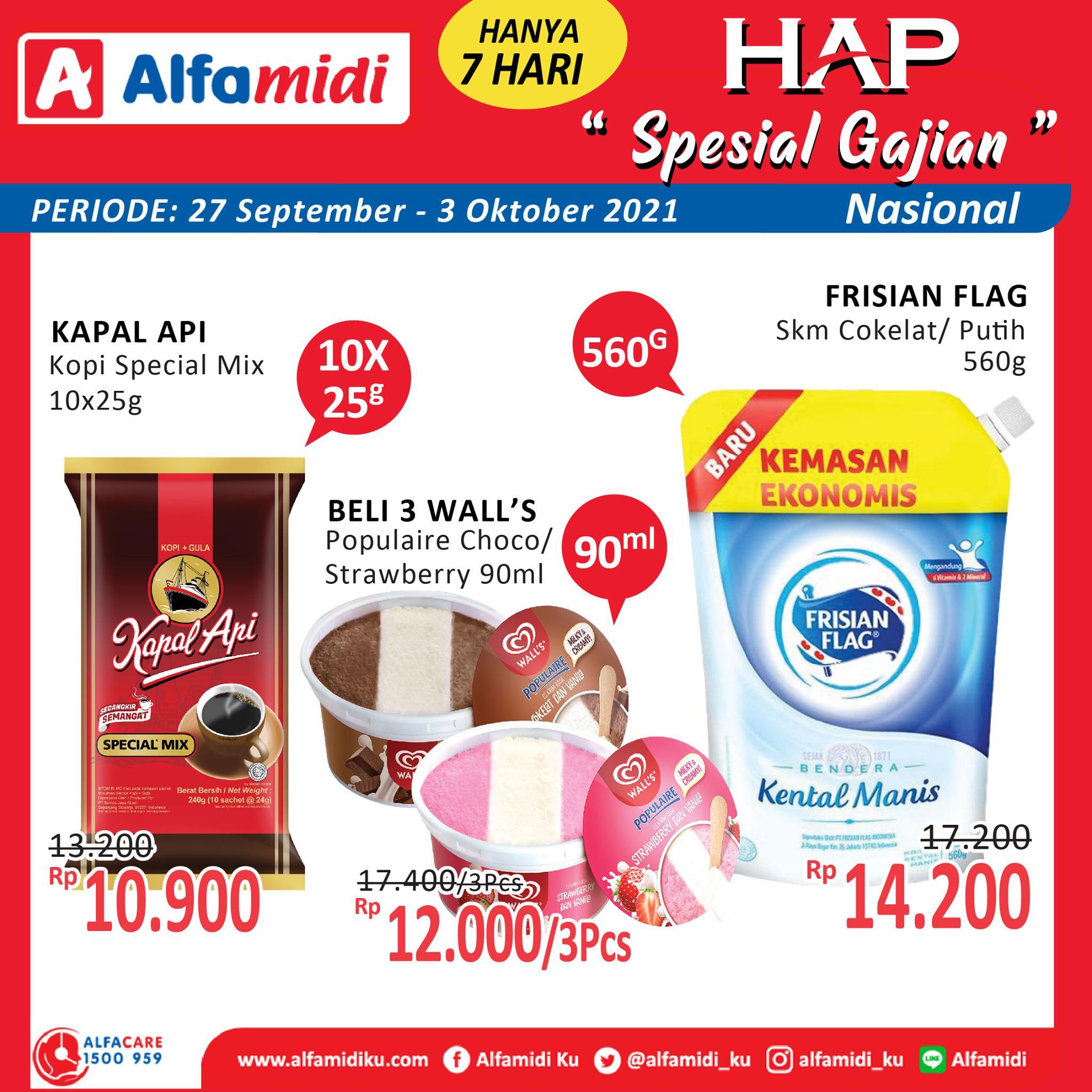Promo ALFAMIDI HEMAT SATU PEKAN periode 27 September - 03 Oktober 2021