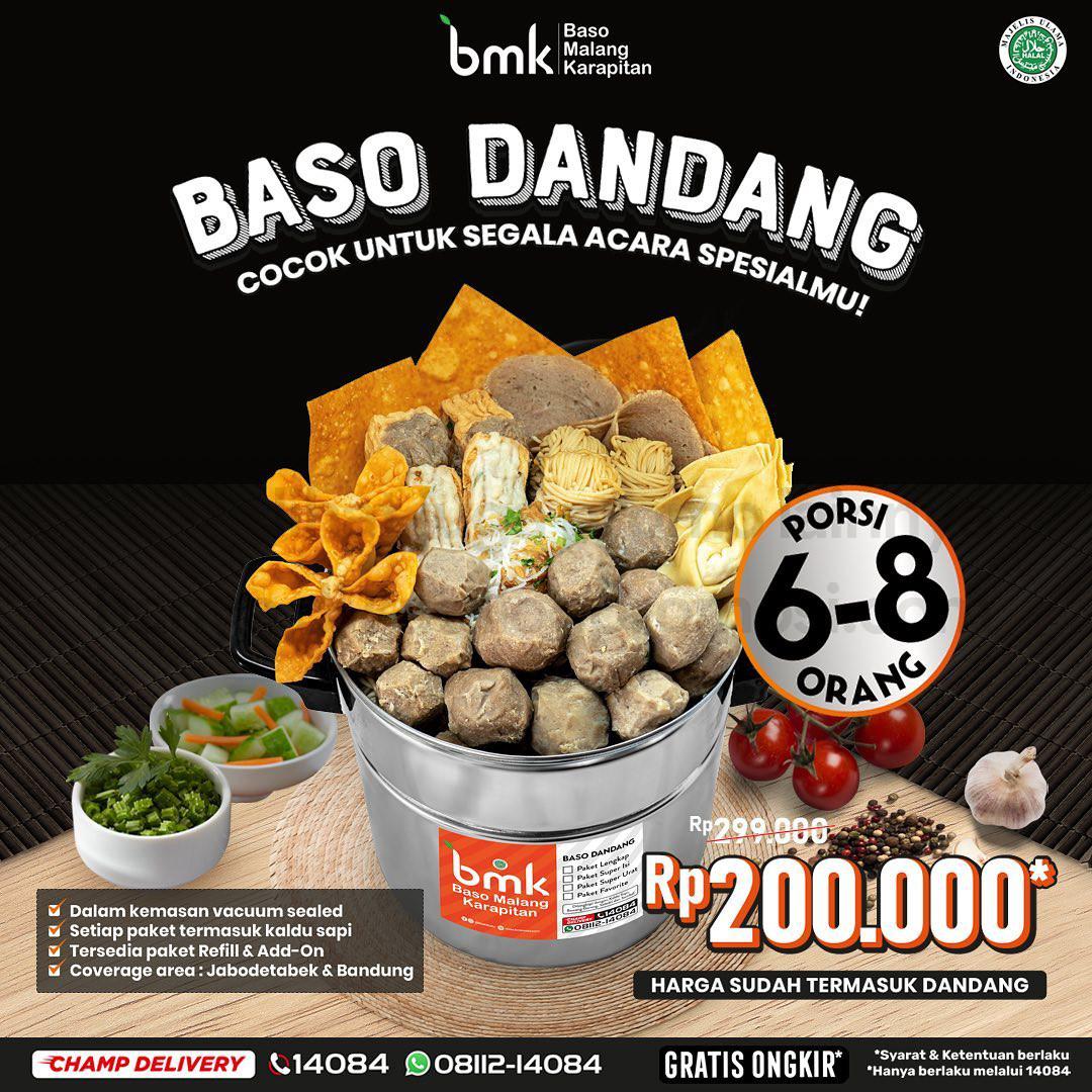 BARU!! BASO DANDANG dari BMK Baso Malang Karapitan! Hanya Rp. 200.000 untuk porsi 6-8 orang