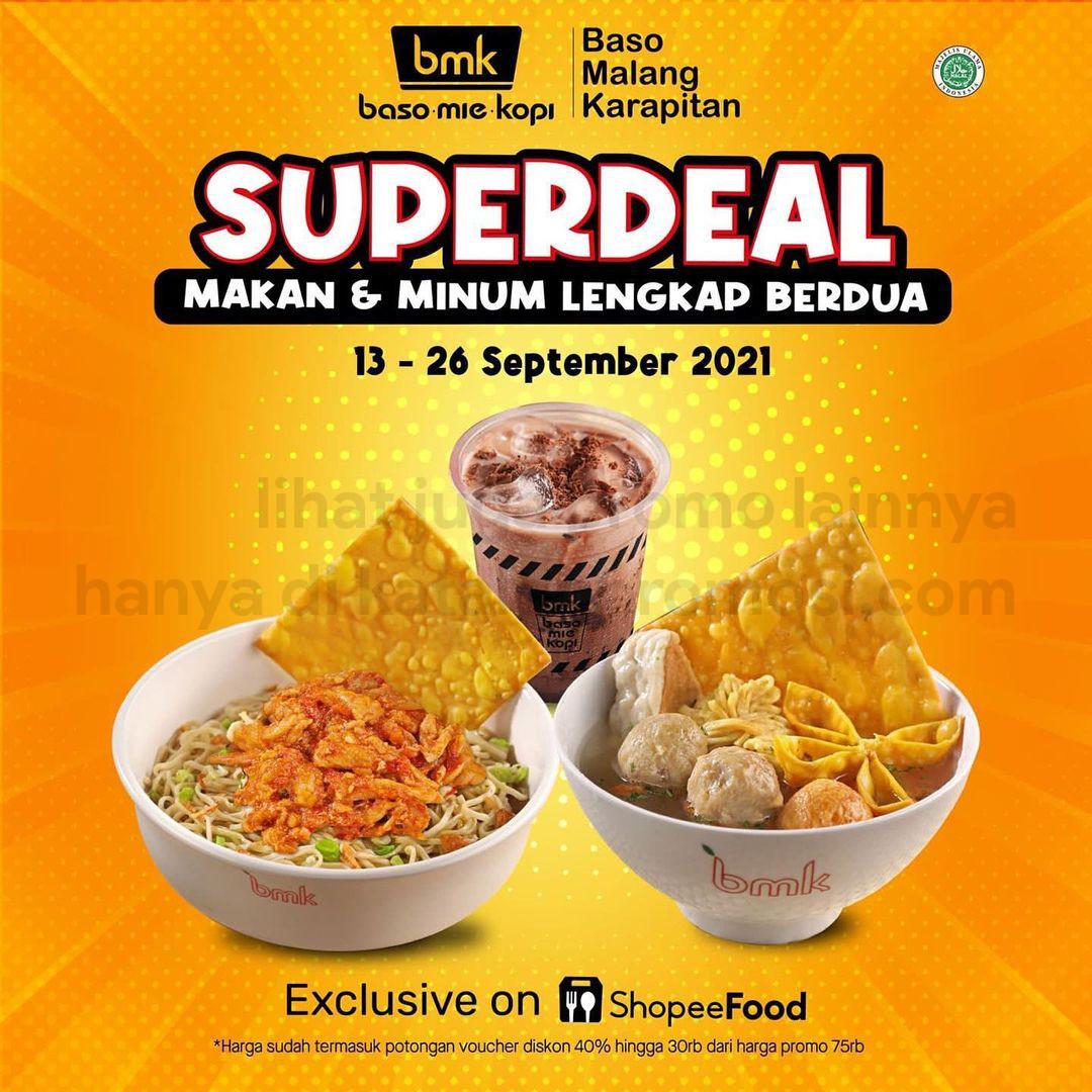 BMK Baso Mie Kopi Promo SHOPEEFOOD SUPER DEAL - Paket Makan untuk Berdua Hanya Rp. 20RIBUAN per orang