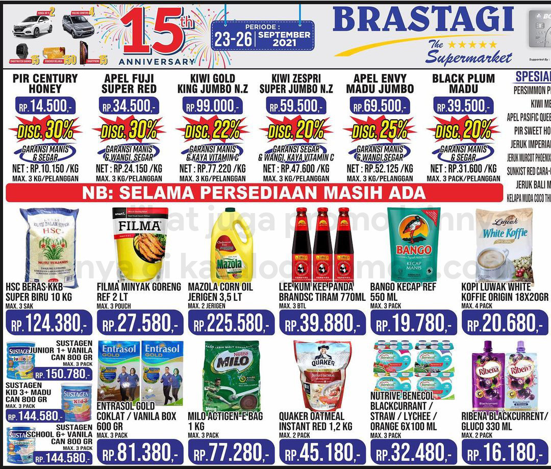 KATALOG BRASTAGI SUPERMARKET Promo Weekend periode 23-26 September 2021