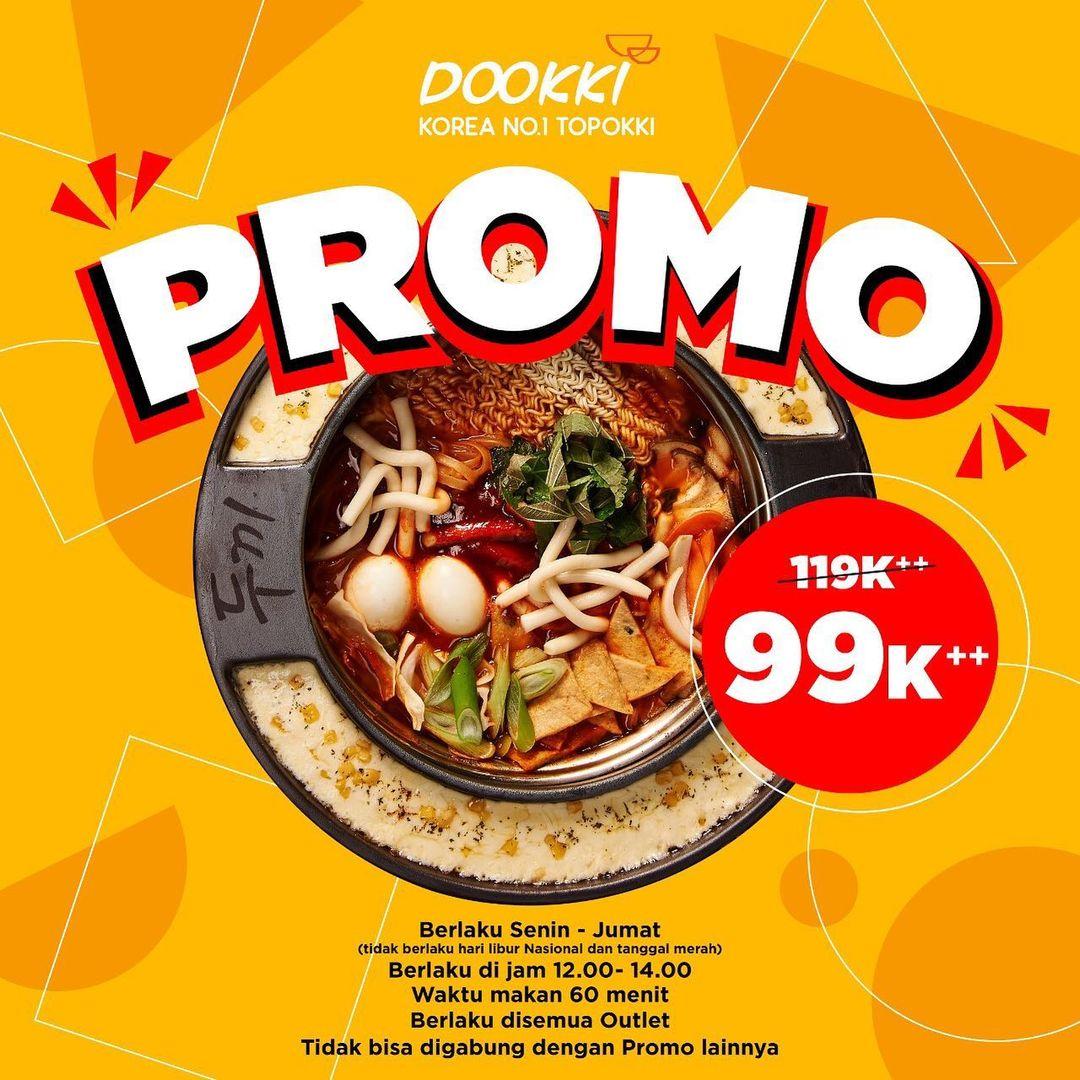 Promo DOOKKI SPESIAL PPKM - MAKAN ALL YOU CAN EAT SEPUASNYA cuma Rp. 99.000++