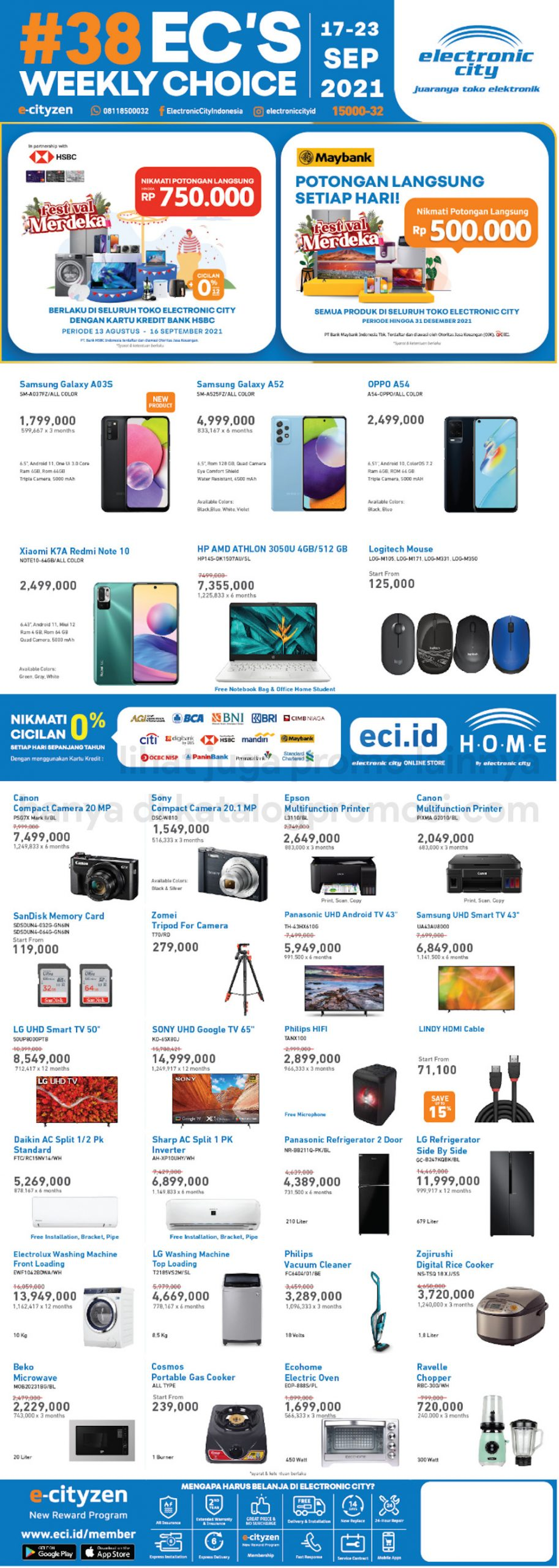 Promo Electronic City Katalog Weekly Special periode 17-23 September 2021