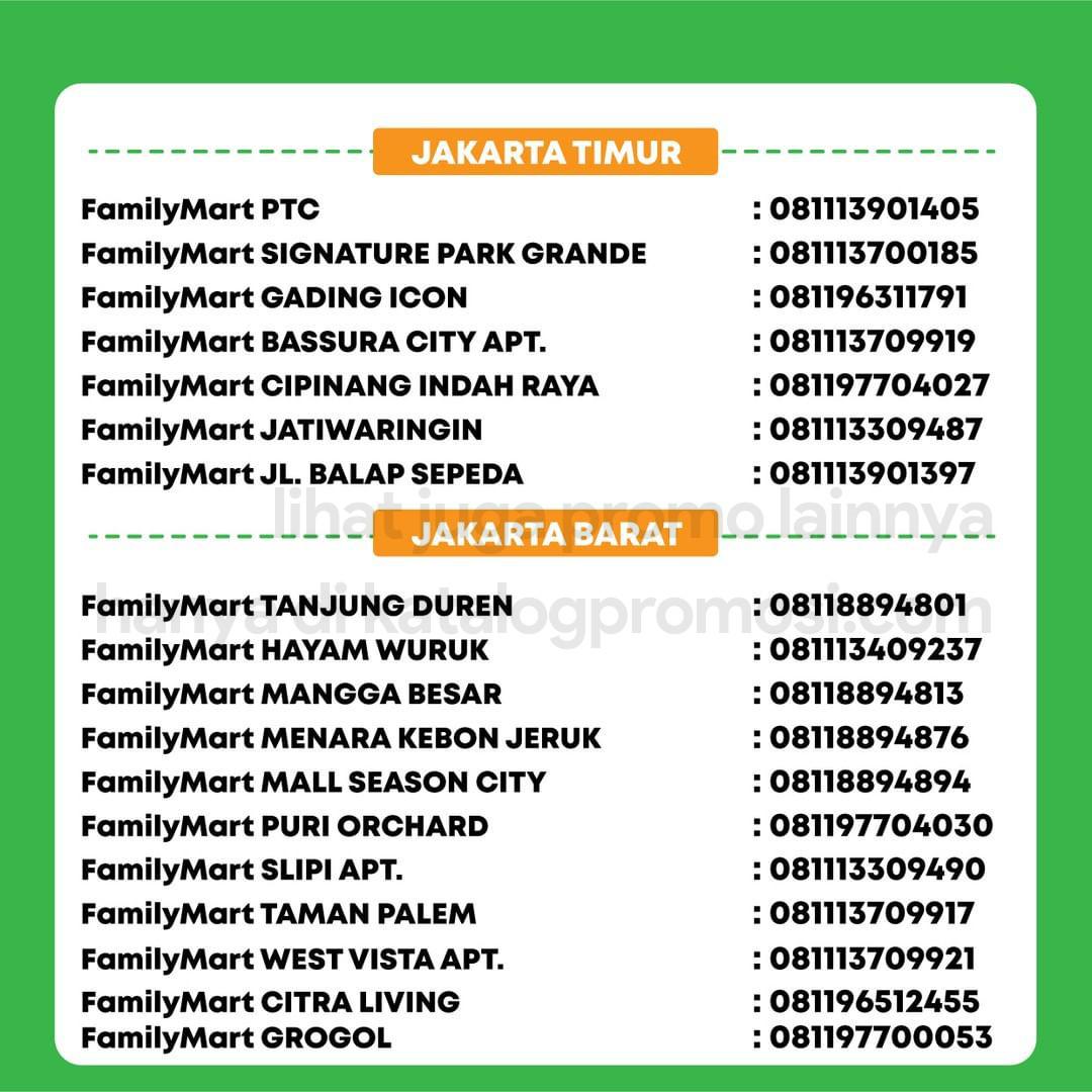 Promo FAMILYMART Katalog Weekend JSM HEMAT PAS GAJIAN periode 24-31 Oktober 2021