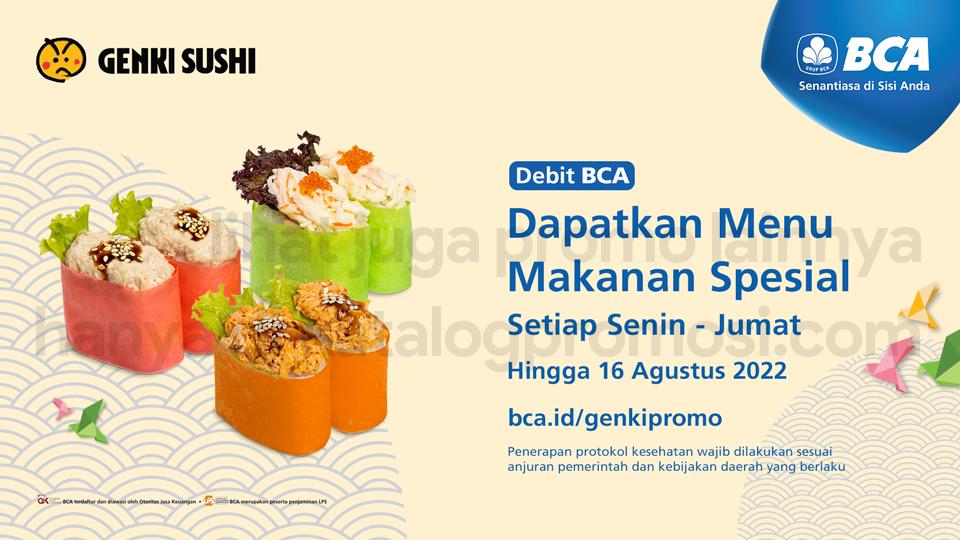 Promo GENKI SUSHI - Dapatkan Menu Makanan Spesial khusus transaksi dengan menggunakan DEBIT BCA