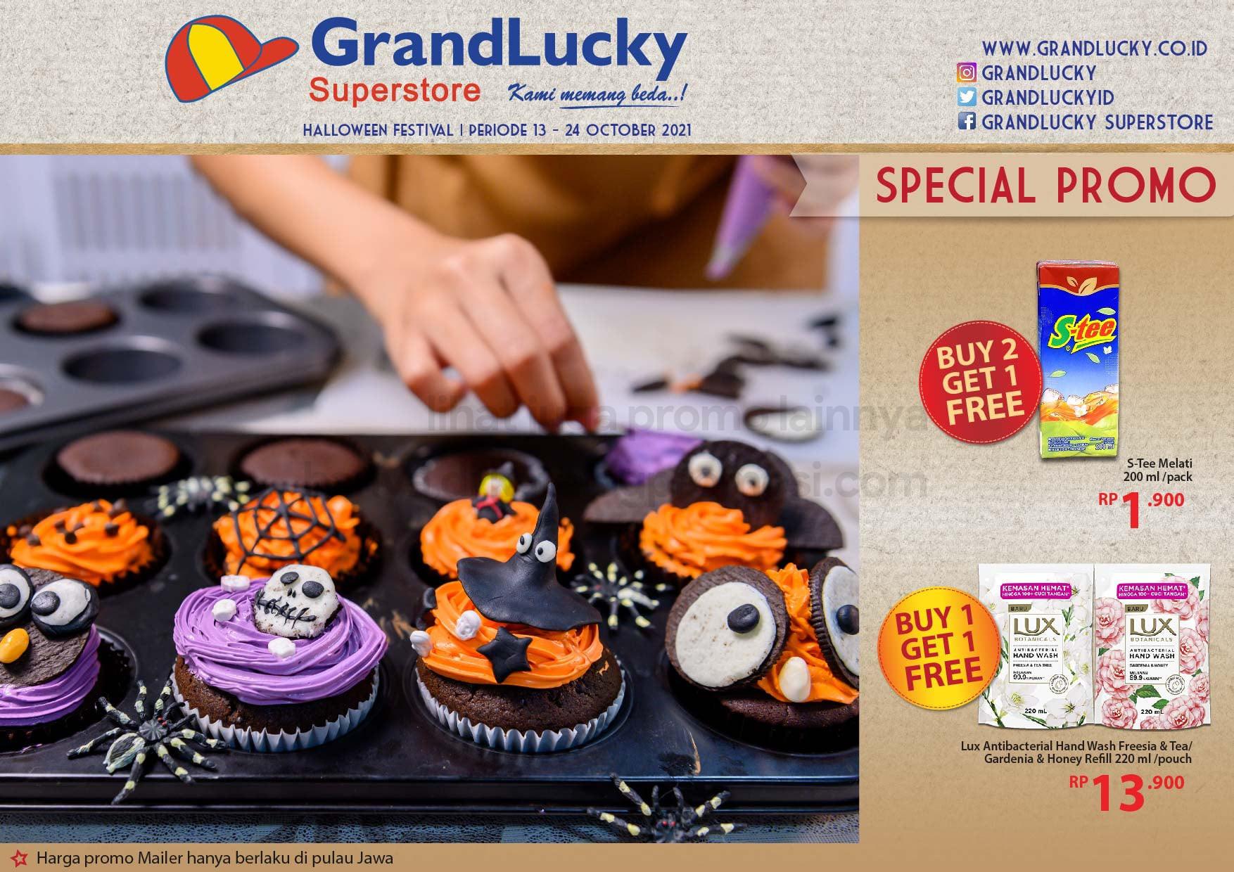 Promo GRAND LUCKY Superstore Katalog Mingguan Periode 13-24 Oktober 2021