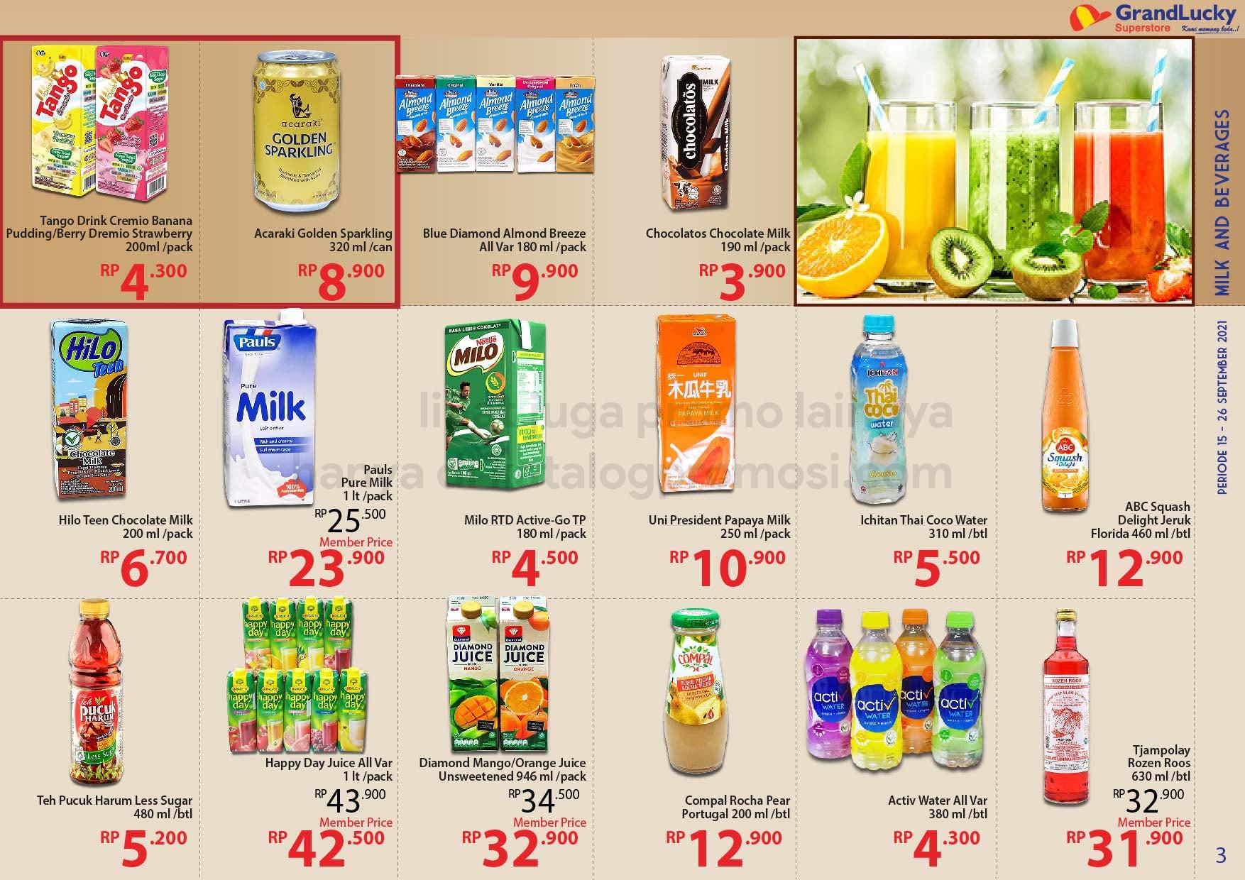 Promo GRAND LUCKY Superstore Katalog Mingguan Periode 15-26 September 2021