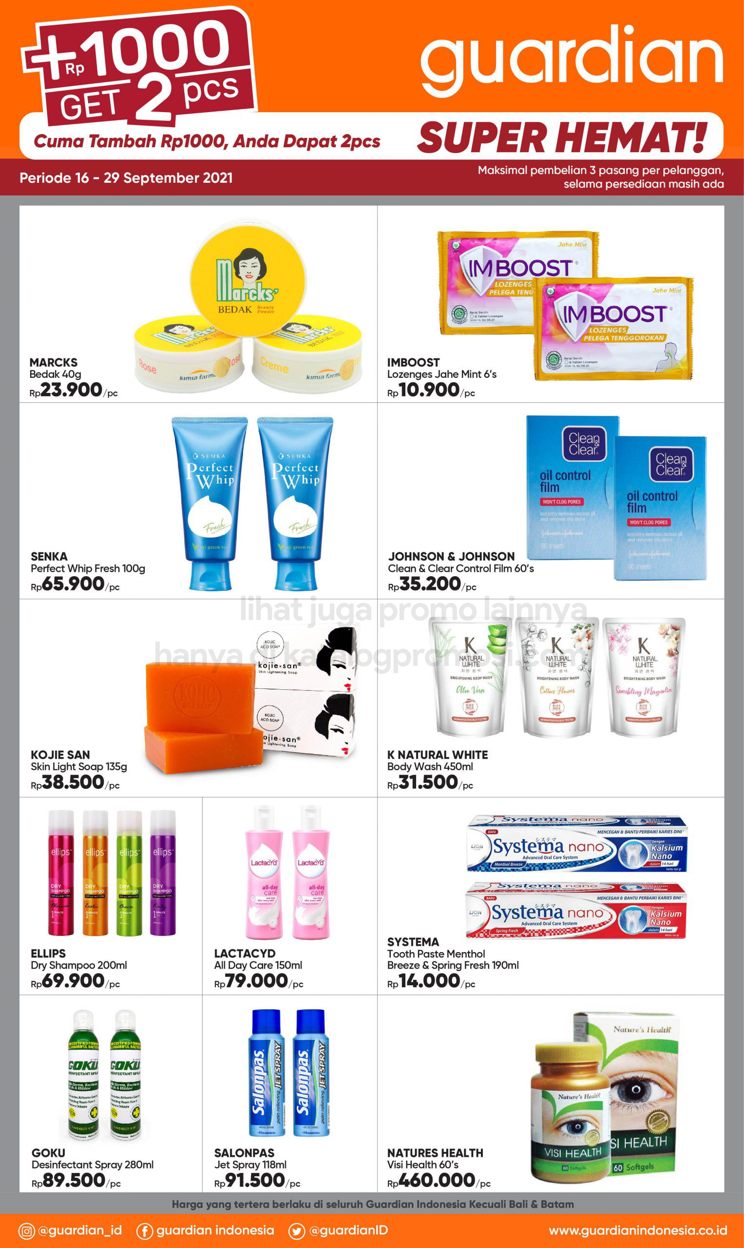 Promo GUARDIAN Katalog Mingguan periode 16-29 September 2021